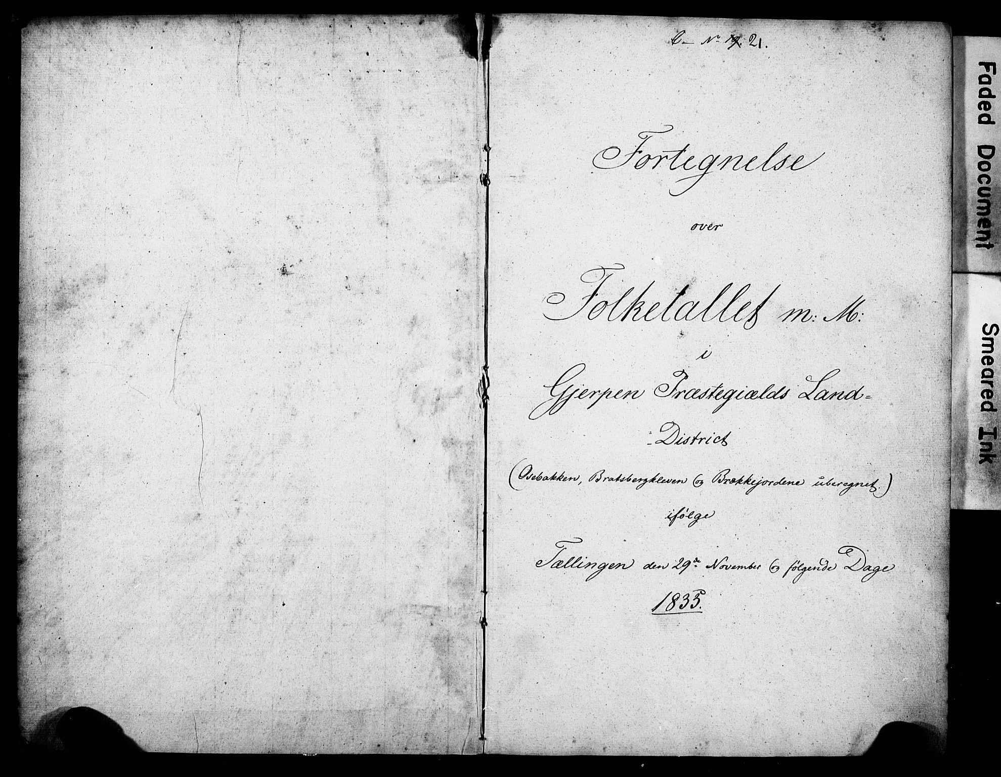 Folketelling 1835 for 0812P Gjerpen prestegjeld, 1835