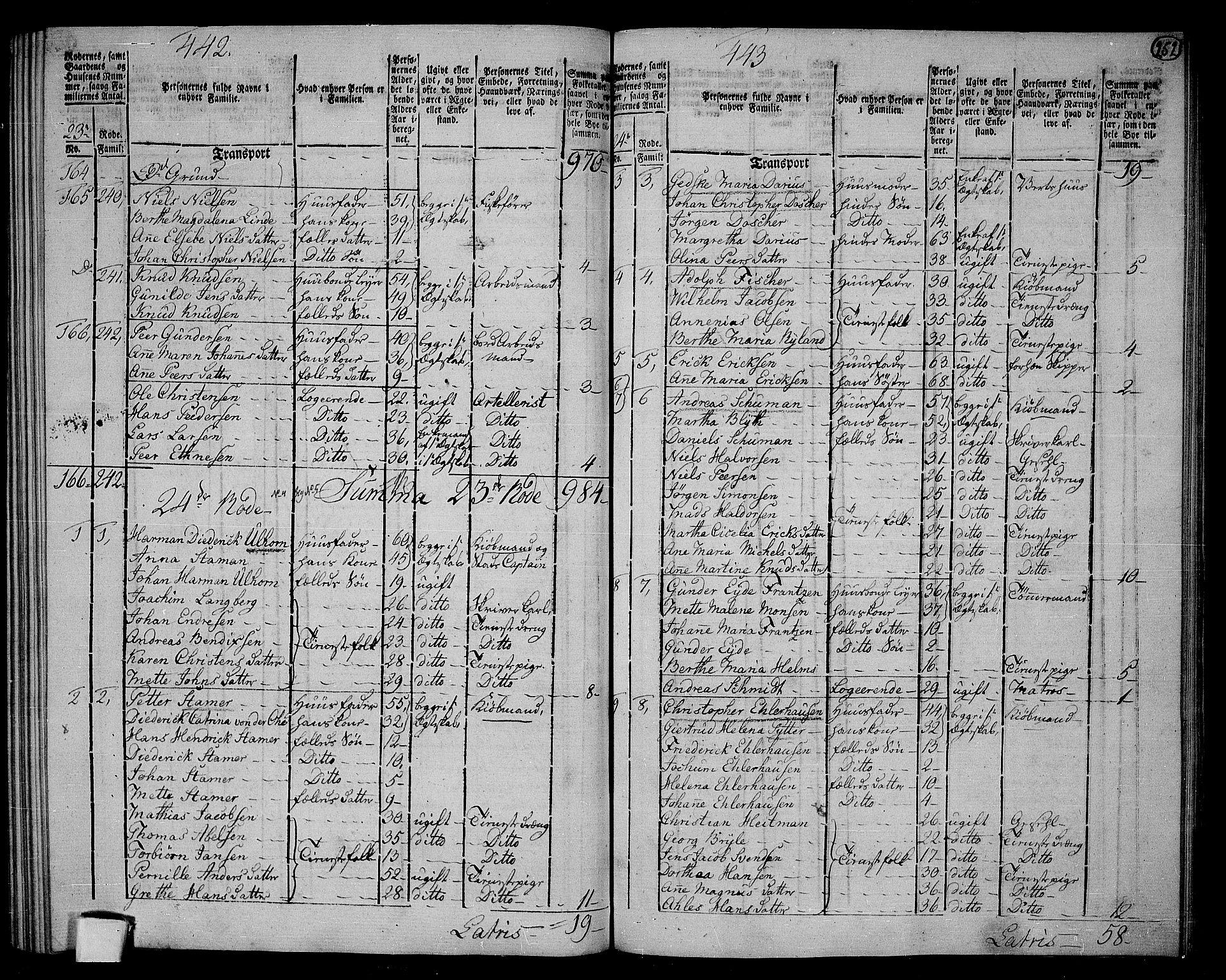 RA, Folketelling 1801 for 1301 Bergen kjøpstad, 1801, s. 251b-252a