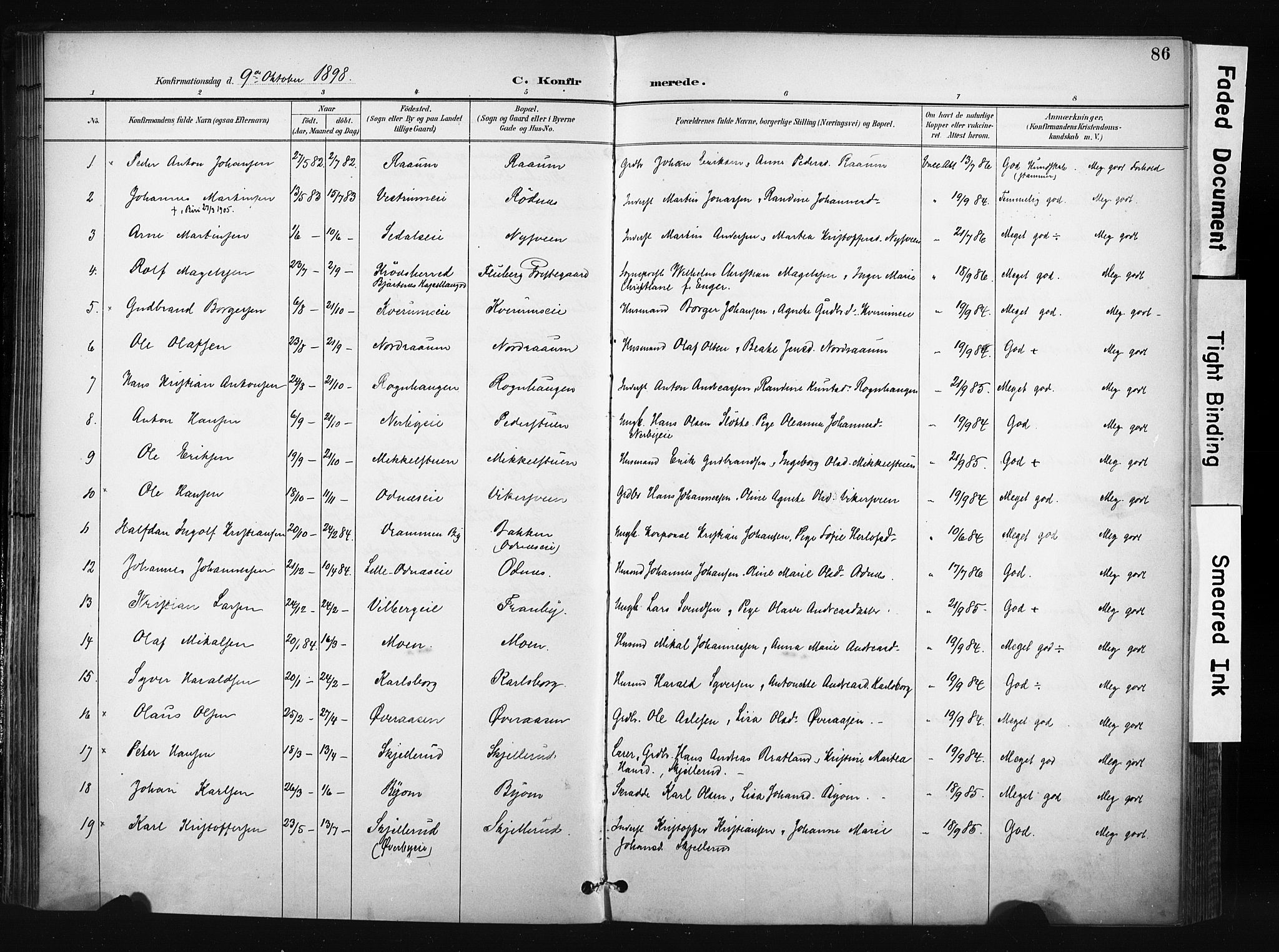 SAH, Søndre Land prestekontor, K/L0004: Ministerialbok nr. 4, 1895-1904, s. 86