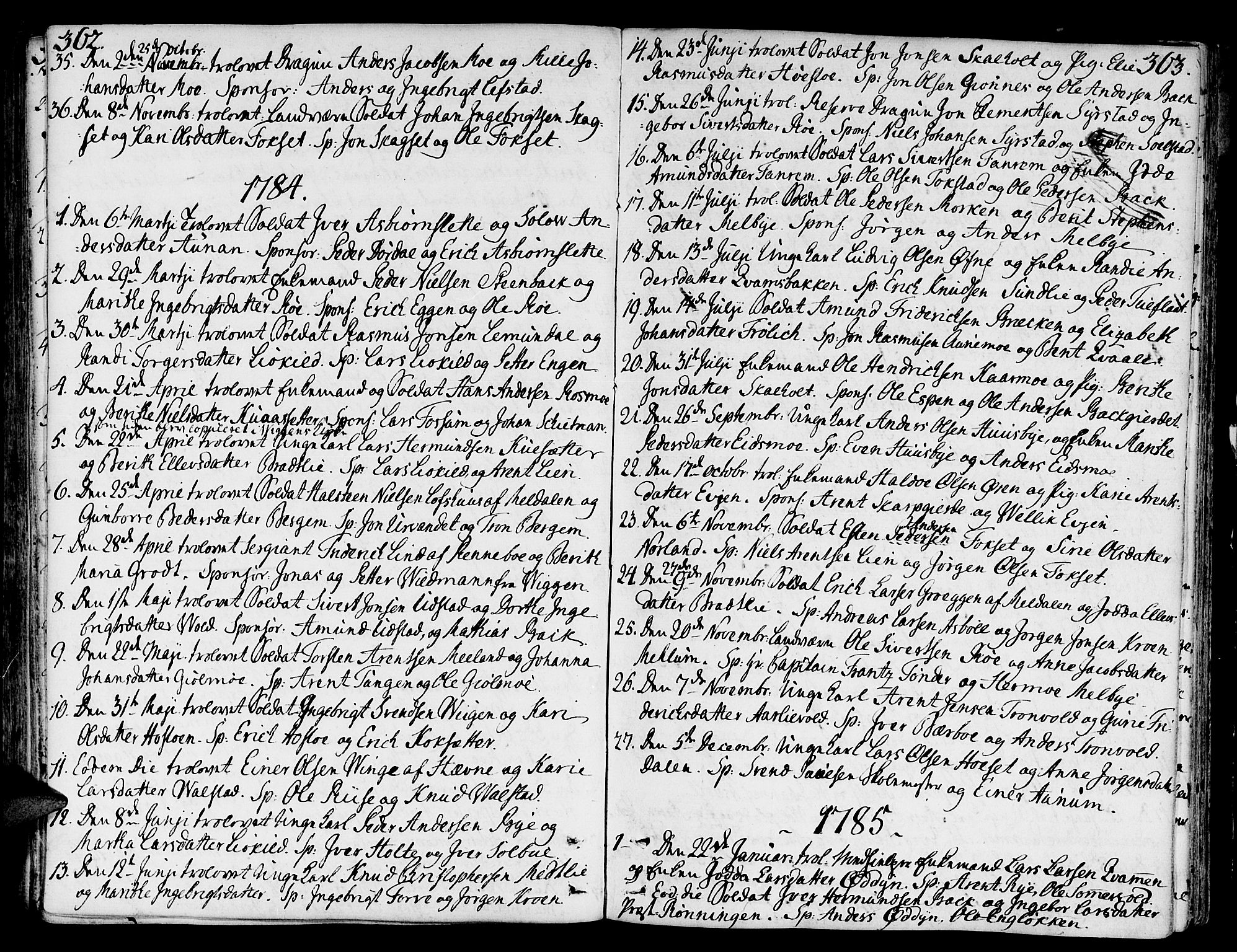 SAT, Ministerialprotokoller, klokkerbøker og fødselsregistre - Sør-Trøndelag, 668/L0802: Ministerialbok nr. 668A02, 1776-1799, s. 362-363