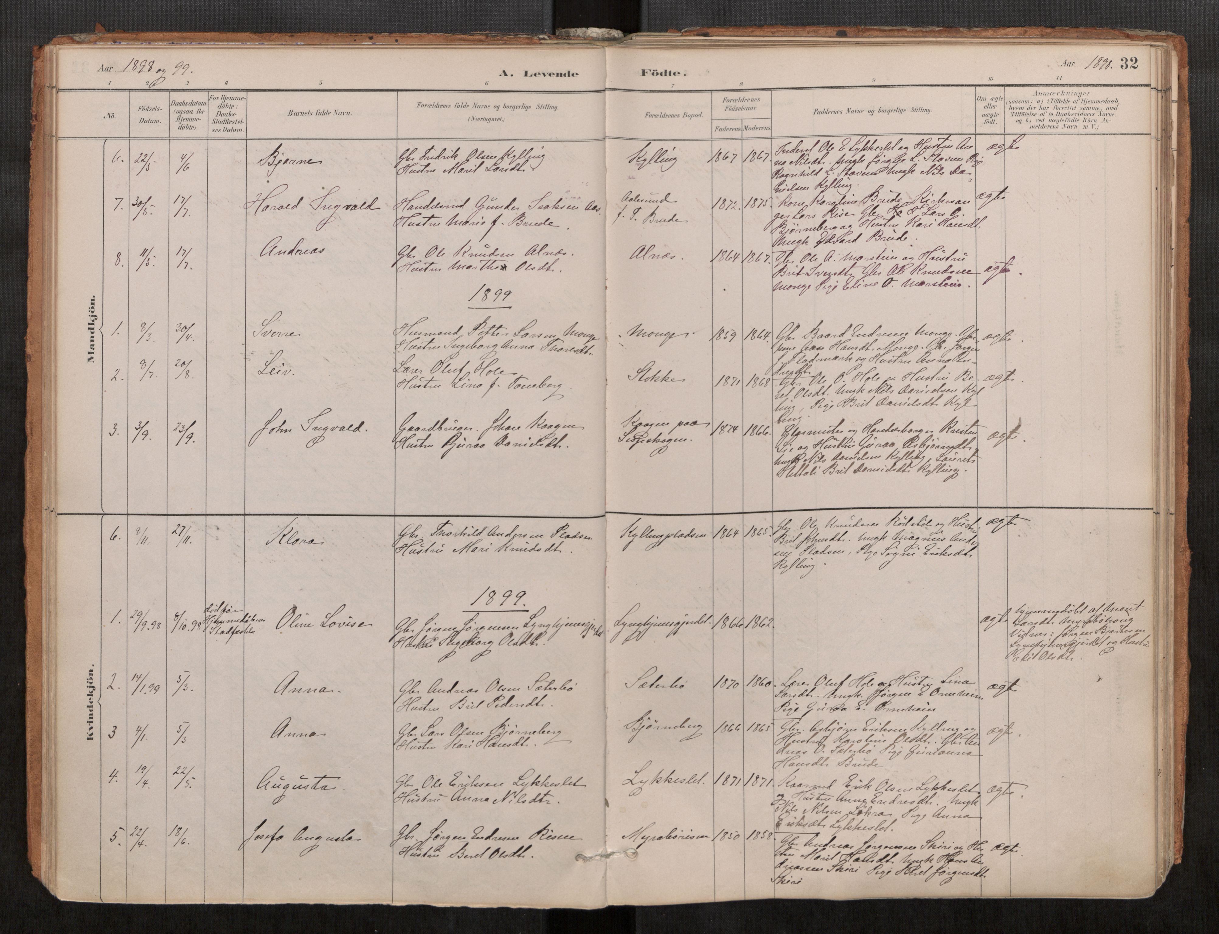 SAT, Grytten sokneprestkontor, Ministerialbok nr. 546A03, 1882-1920, s. 32