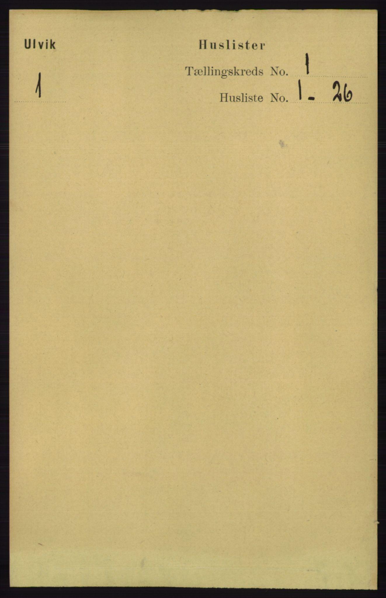 RA, Folketelling 1891 for 1233 Ulvik herred, 1891, s. 40