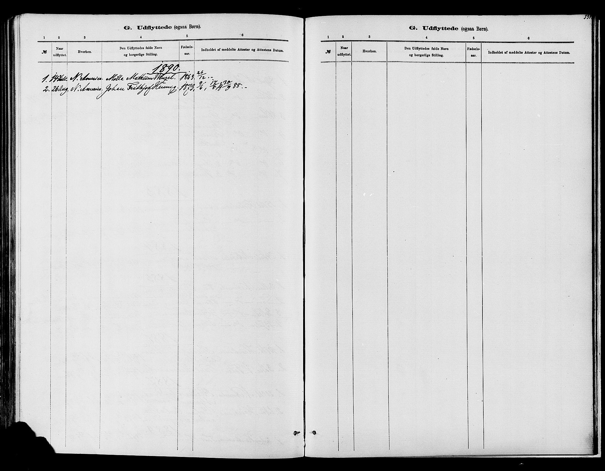 SAH, Vardal prestekontor, H/Ha/Haa/L0008: Ministerialbok nr. 8, 1878-1890, s. 335