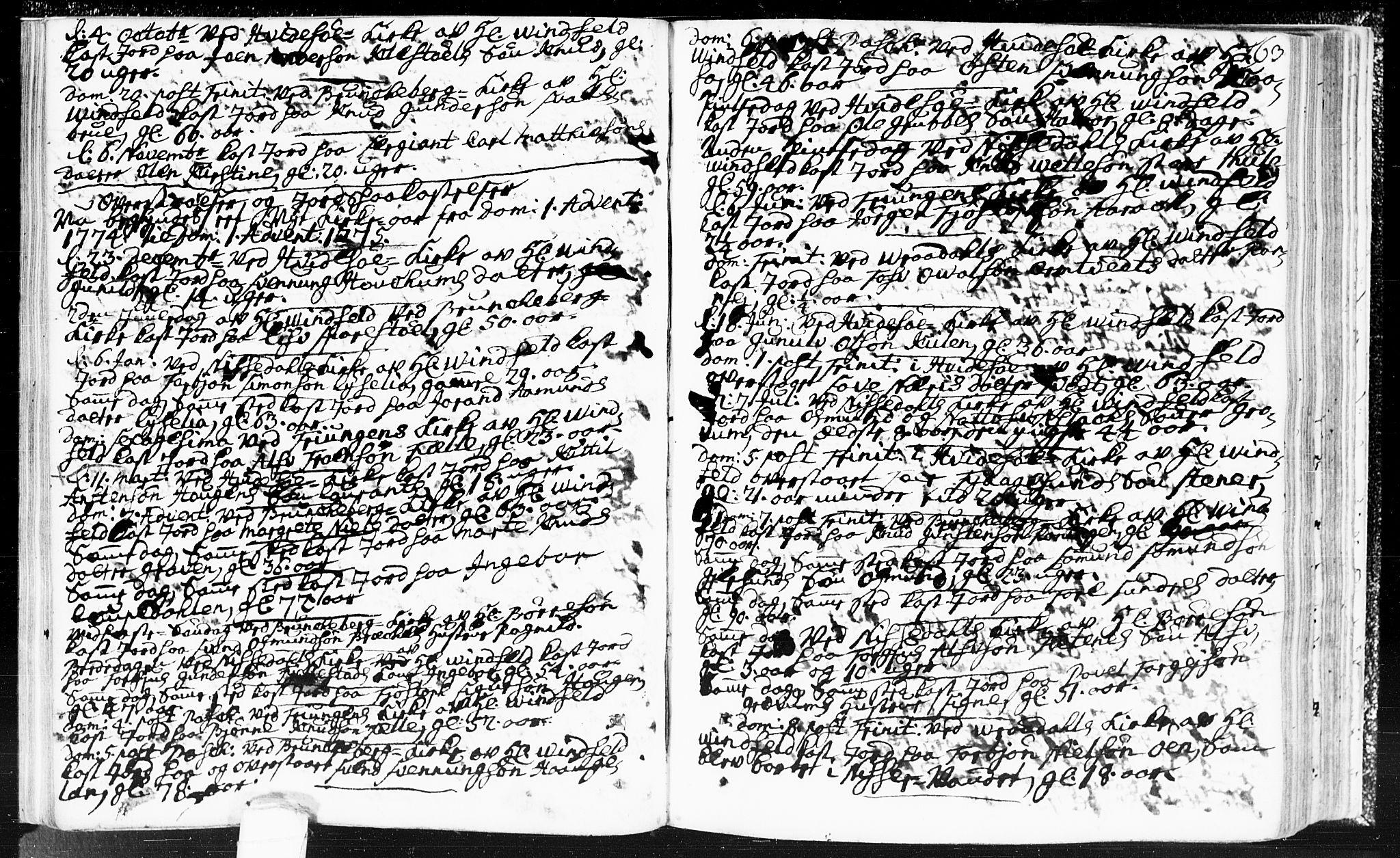 SAKO, Kviteseid kirkebøker, F/Fa/L0002: Ministerialbok nr. I 2, 1773-1786, s. 163