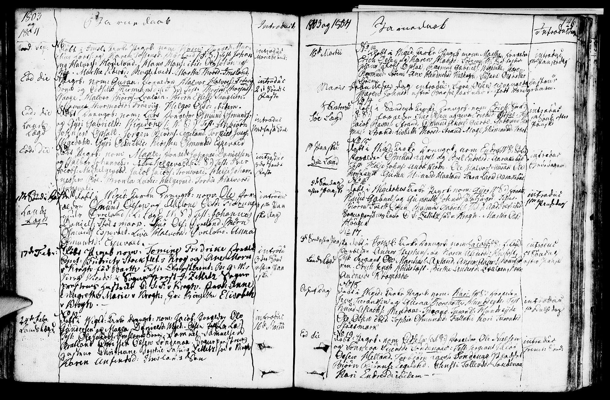 SAST, Vikedal sokneprestkontor, IV: Ministerialbok nr. A 2, 1779-1817, s. 146
