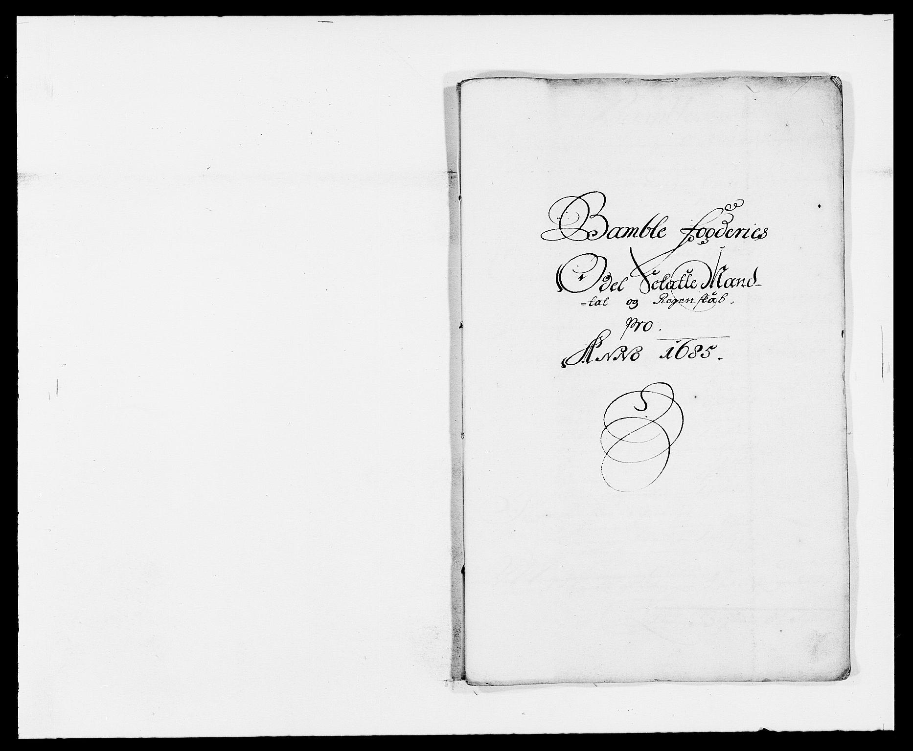 RA, Rentekammeret inntil 1814, Reviderte regnskaper, Fogderegnskap, R34/L2048: Fogderegnskap Bamble, 1685-1687, s. 97