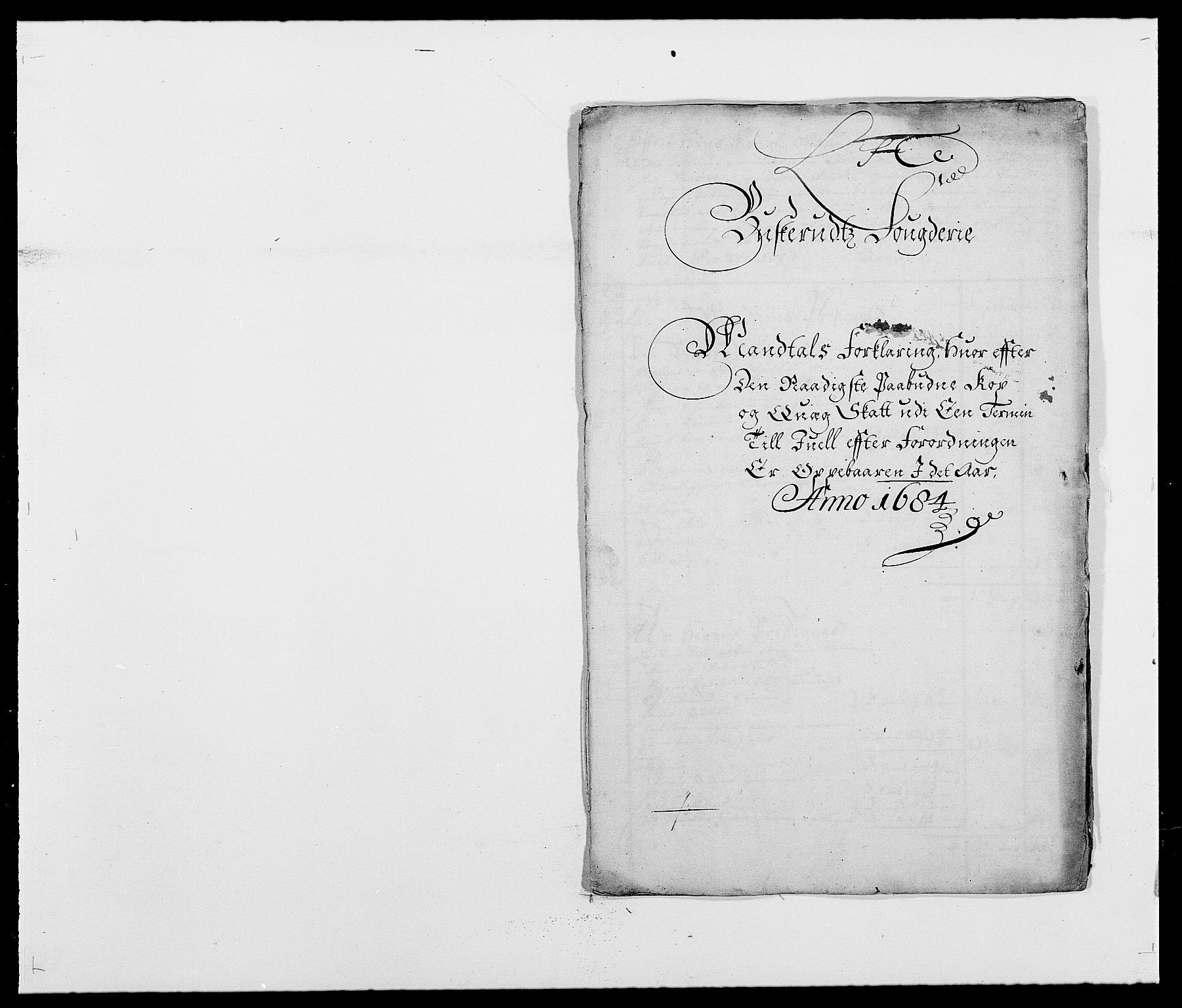 RA, Rentekammeret inntil 1814, Reviderte regnskaper, Fogderegnskap, R25/L1677: Fogderegnskap Buskerud, 1683-1684, s. 324