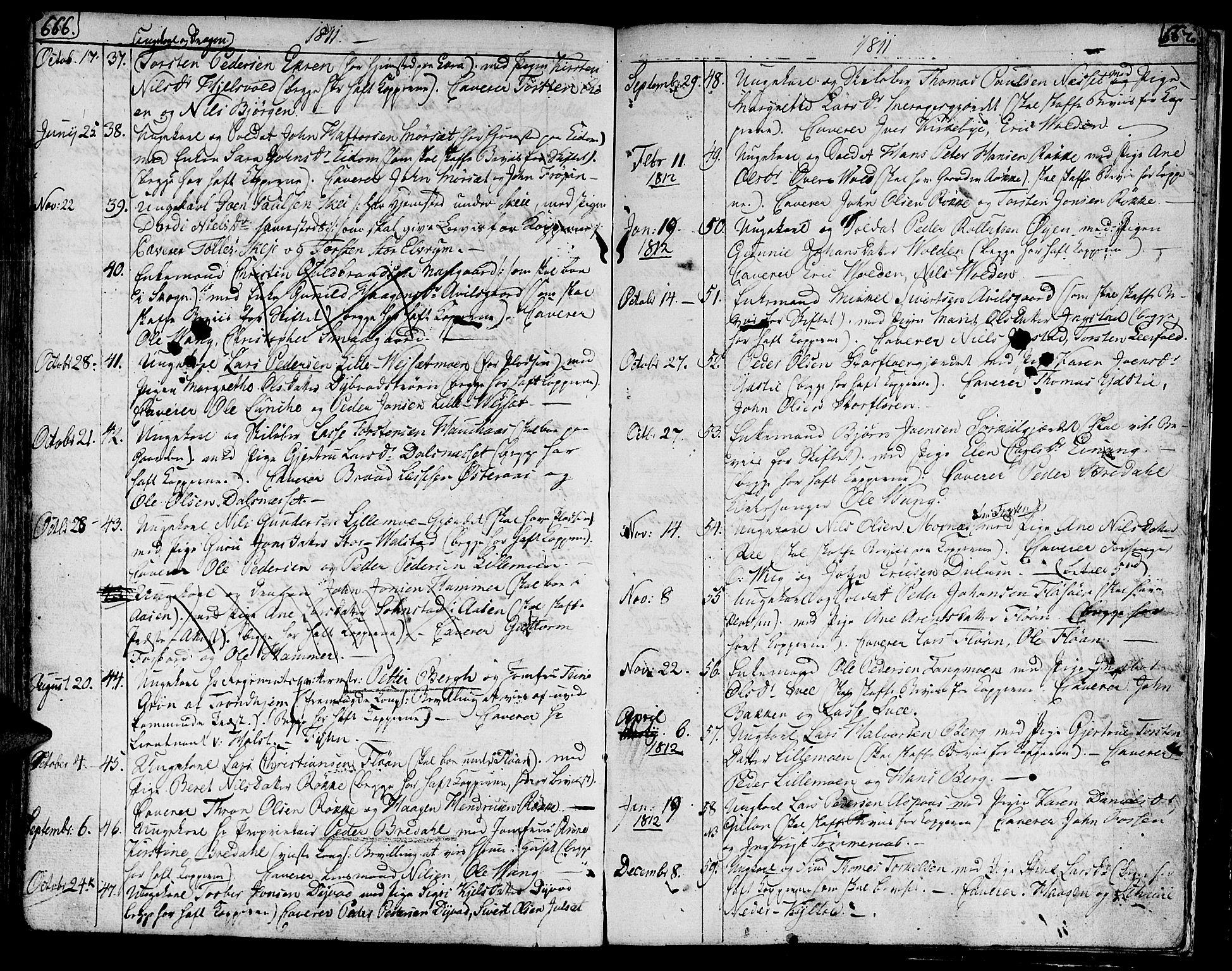SAT, Ministerialprotokoller, klokkerbøker og fødselsregistre - Nord-Trøndelag, 709/L0060: Ministerialbok nr. 709A07, 1797-1815, s. 666-667