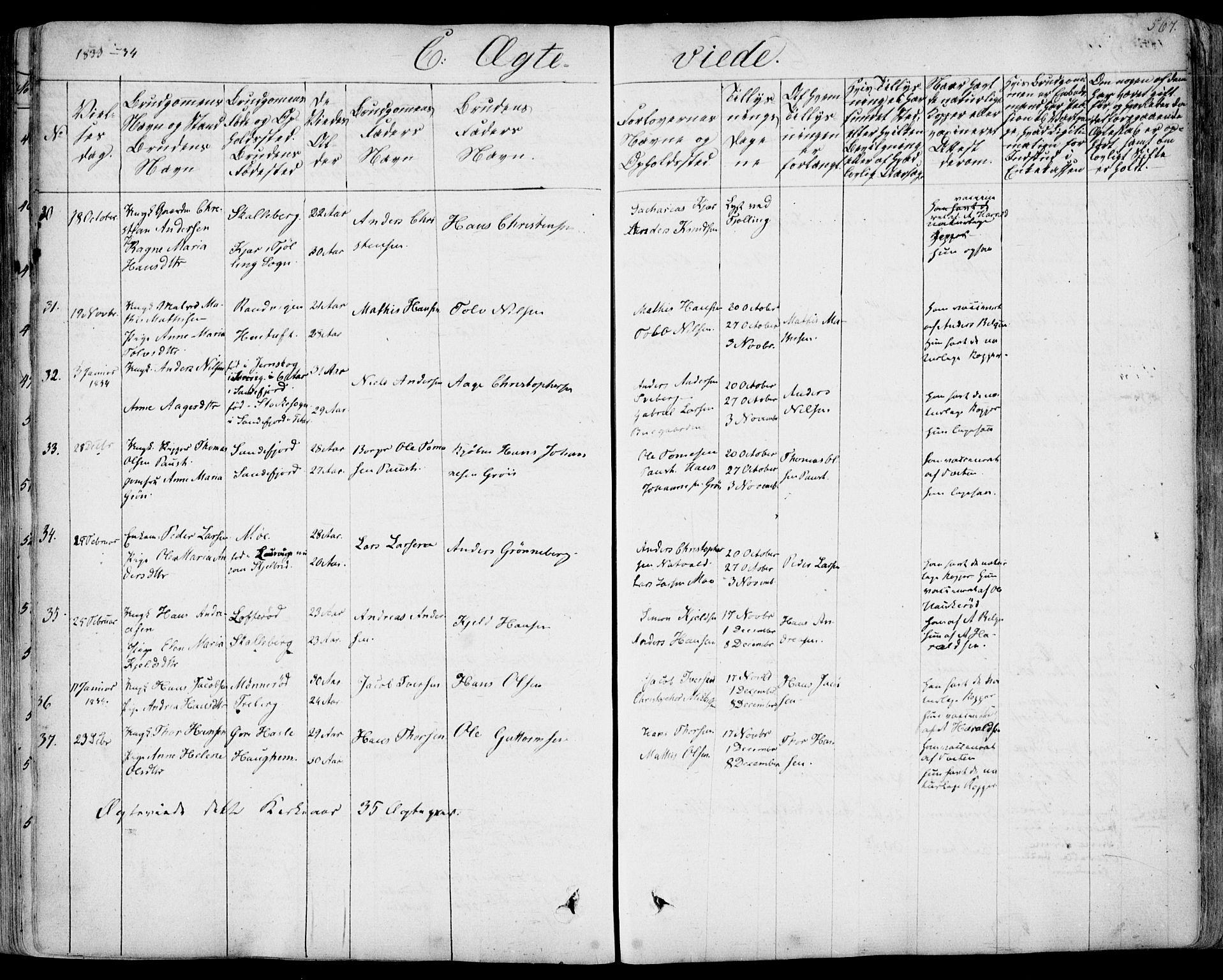 SAKO, Sandar kirkebøker, F/Fa/L0005: Ministerialbok nr. 5, 1832-1847, s. 566-567