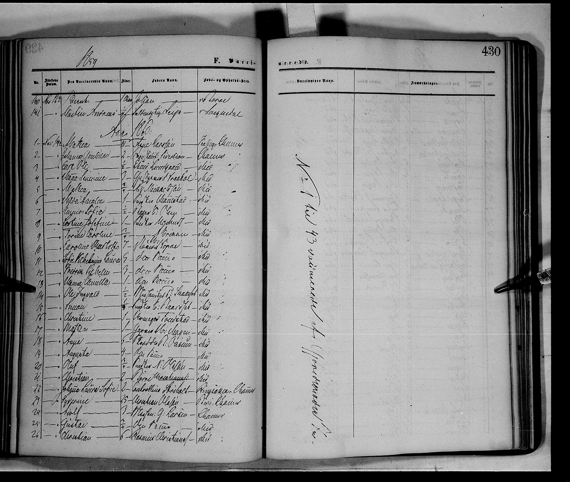 SAH, Fåberg prestekontor, Ministerialbok nr. 6B, 1855-1867, s. 430