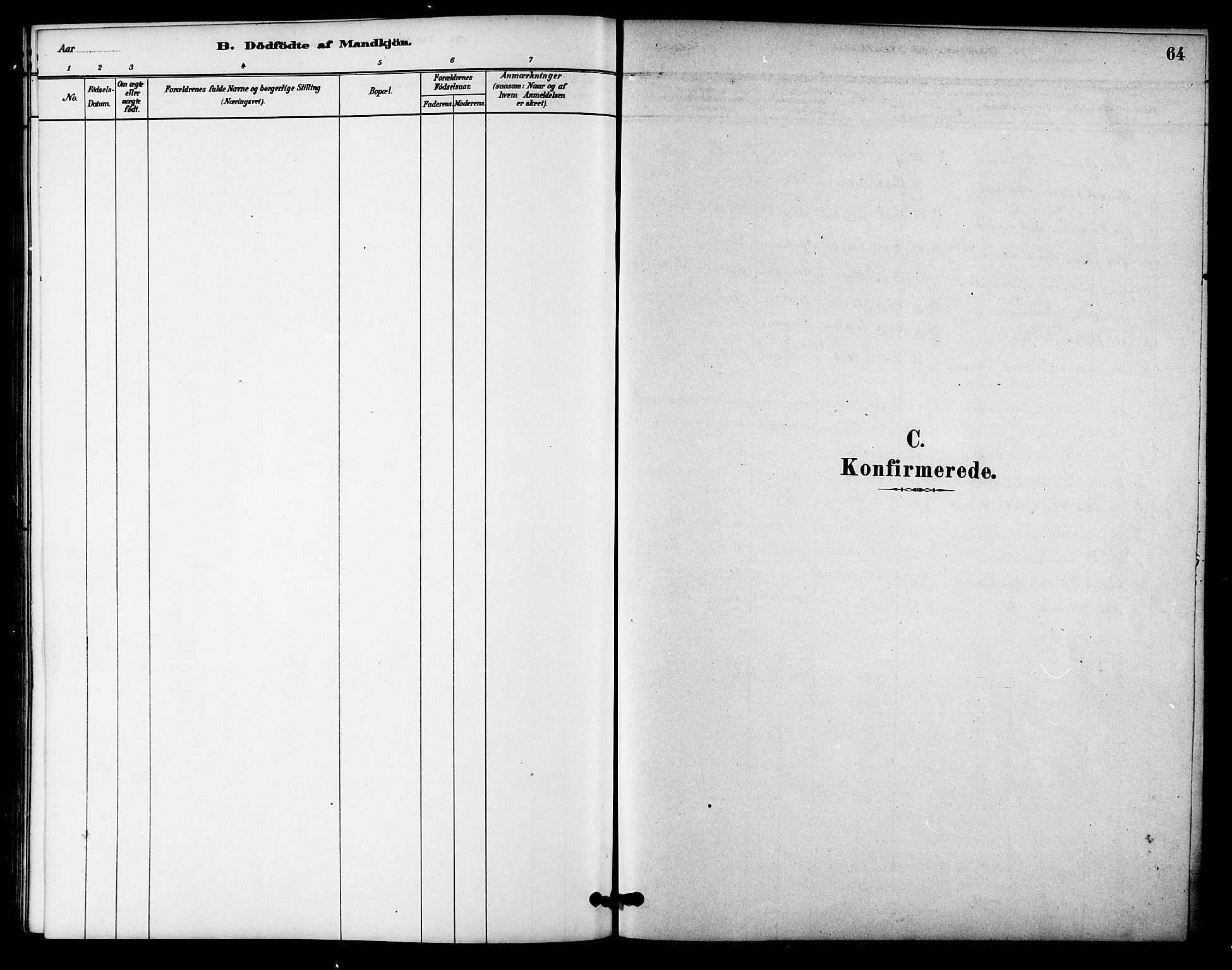 SAT, Ministerialprotokoller, klokkerbøker og fødselsregistre - Sør-Trøndelag, 618/L0444: Ministerialbok nr. 618A07, 1880-1898, s. 64