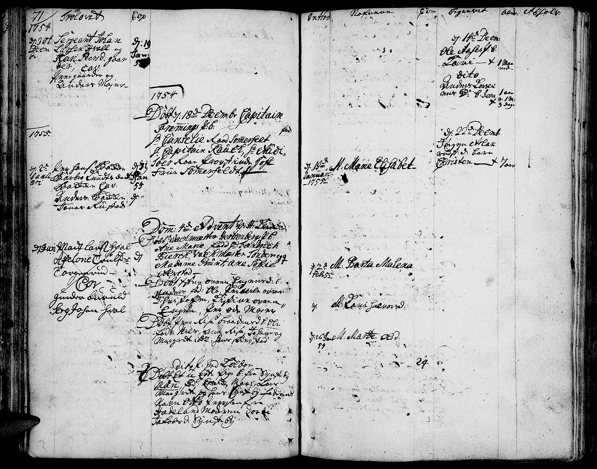 SAH, Toten prestekontor, Ministerialbok nr. 4, 1751-1761, s. 71