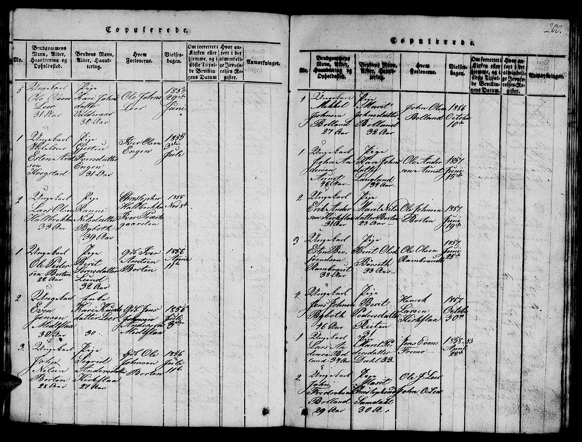 SAT, Ministerialprotokoller, klokkerbøker og fødselsregistre - Sør-Trøndelag, 693/L1121: Klokkerbok nr. 693C02, 1816-1869, s. 200