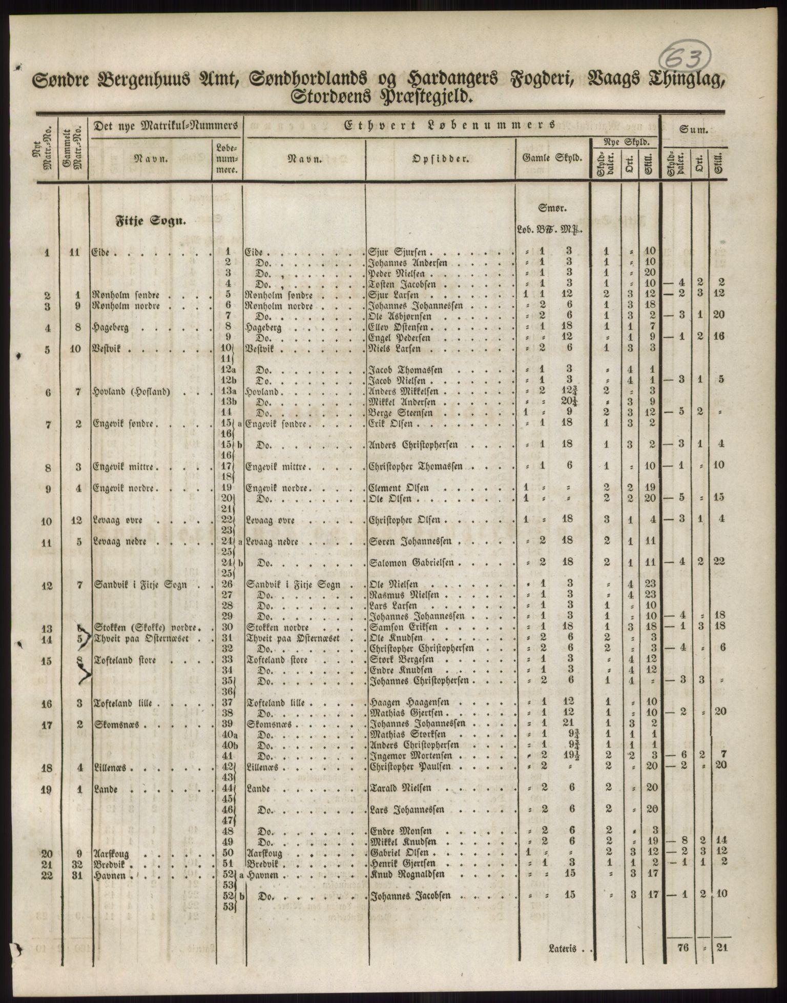 PUBL, Andre publikasjoner, -/Bind 11: Søndre Bergenhus amt: Sunnhordland og Hardanger fogderi, Stamhuset Rosendals gods og Lyse klosters gods, 1838, s. 106