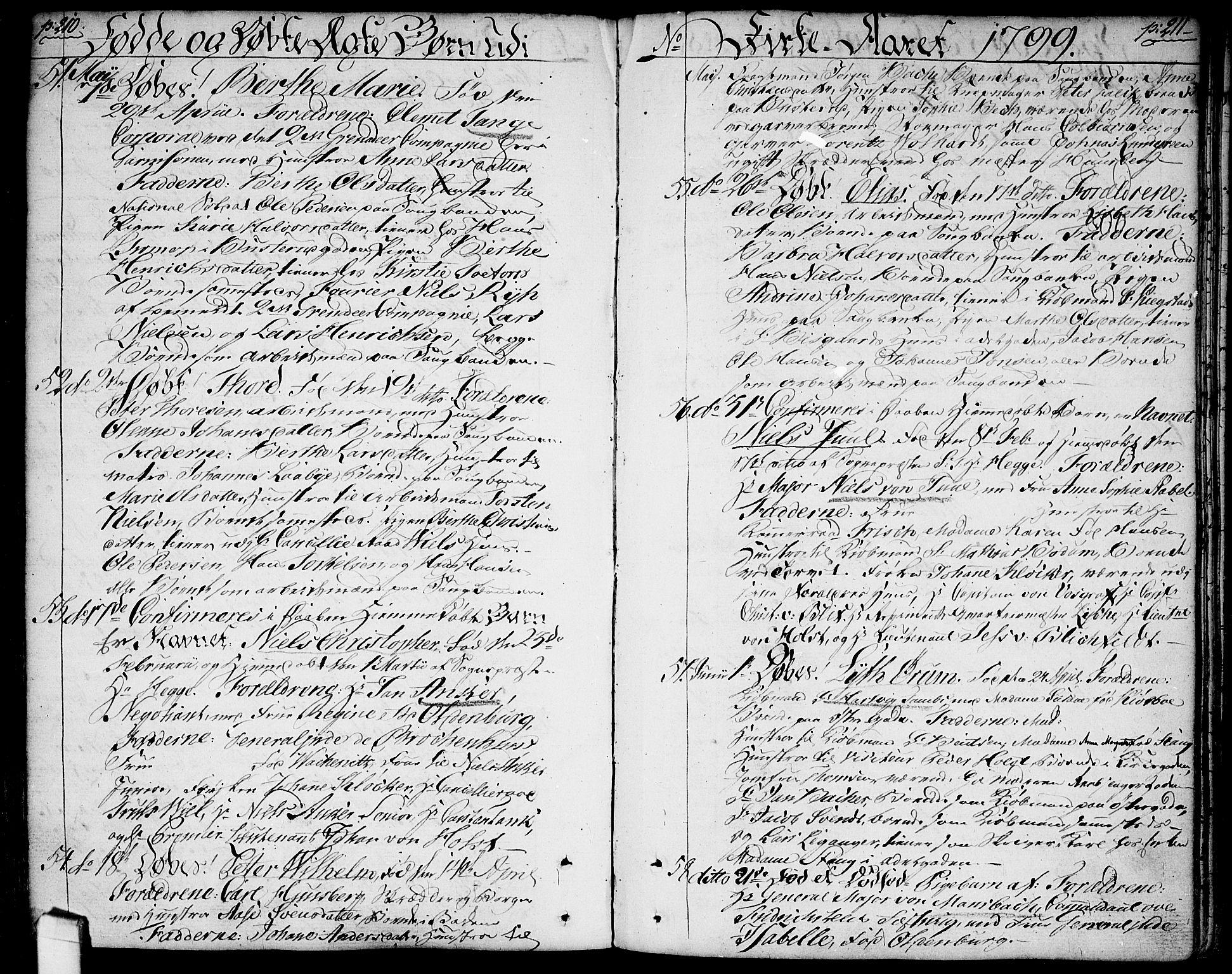 SAO, Halden prestekontor Kirkebøker, F/Fa/L0002: Ministerialbok nr. I 2, 1792-1812, s. 210-211