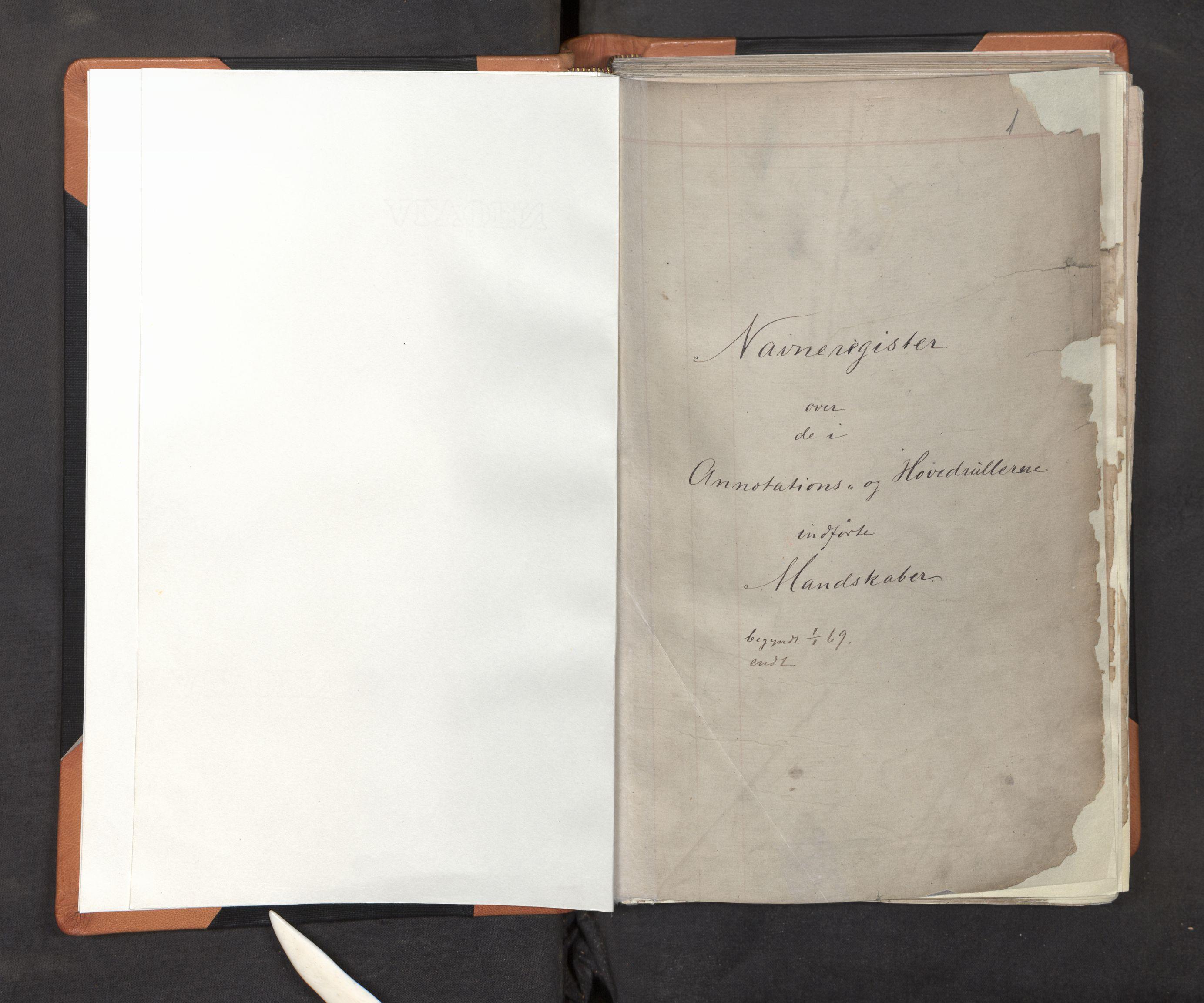 SAB, Innrulleringssjefen i Bergen, F/Fa/L0001: Register til annotasjons-hovedrulle for Bergen krets A - K, 1869-1897, s. 1