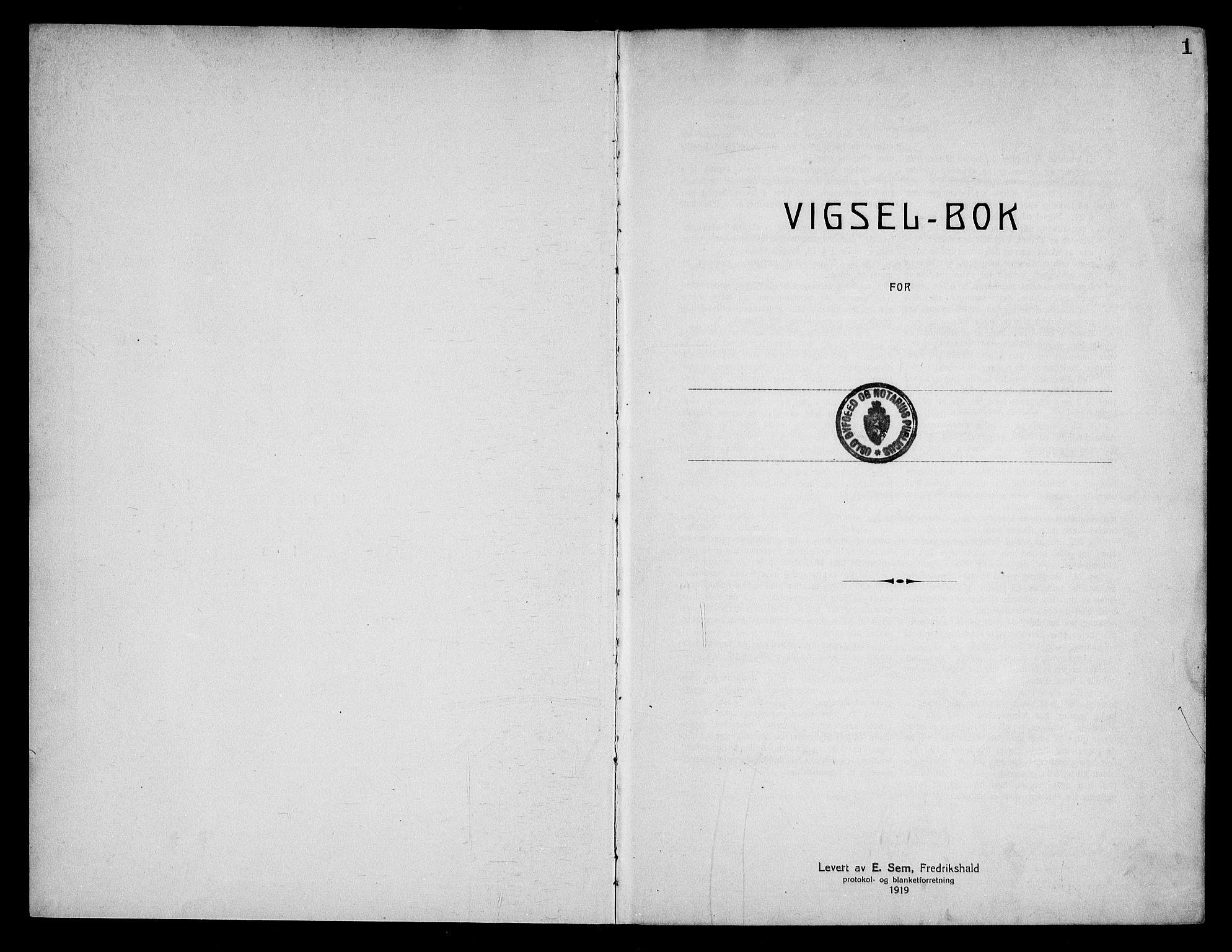 SAO, Oslo byfogd avd. I, L/Lb/Lbb/L0018: Notarialprotokoll, rekke II: Vigsler, 1926-1928, s. 1a