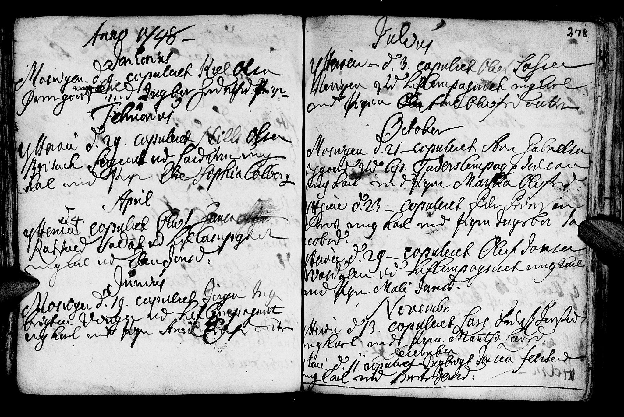 SAT, Ministerialprotokoller, klokkerbøker og fødselsregistre - Nord-Trøndelag, 722/L0215: Ministerialbok nr. 722A02, 1718-1755, s. 278