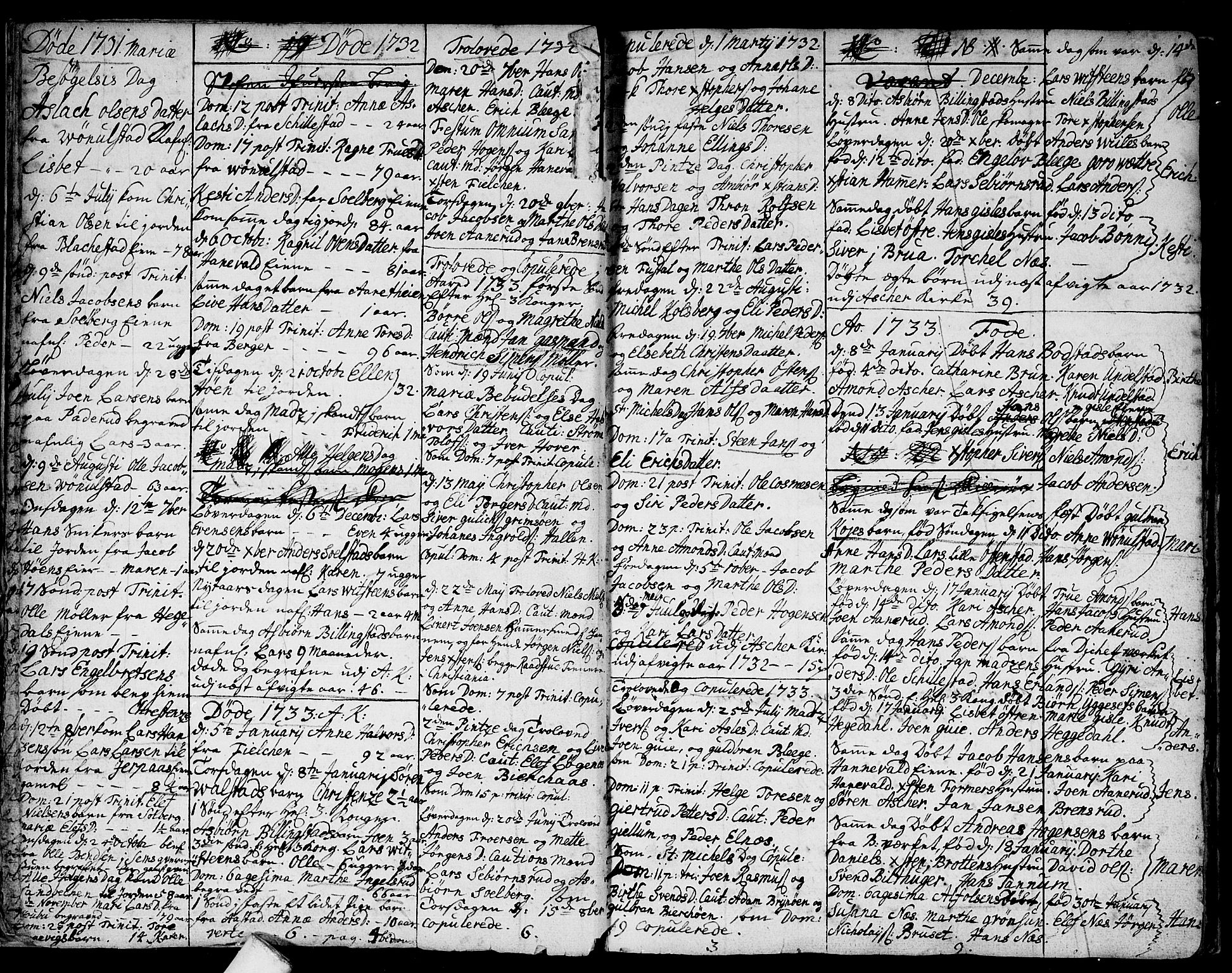 SAO, Asker prestekontor Kirkebøker, F/Fa/L0001: Ministerialbok nr. I 1, 1726-1744, s. 8
