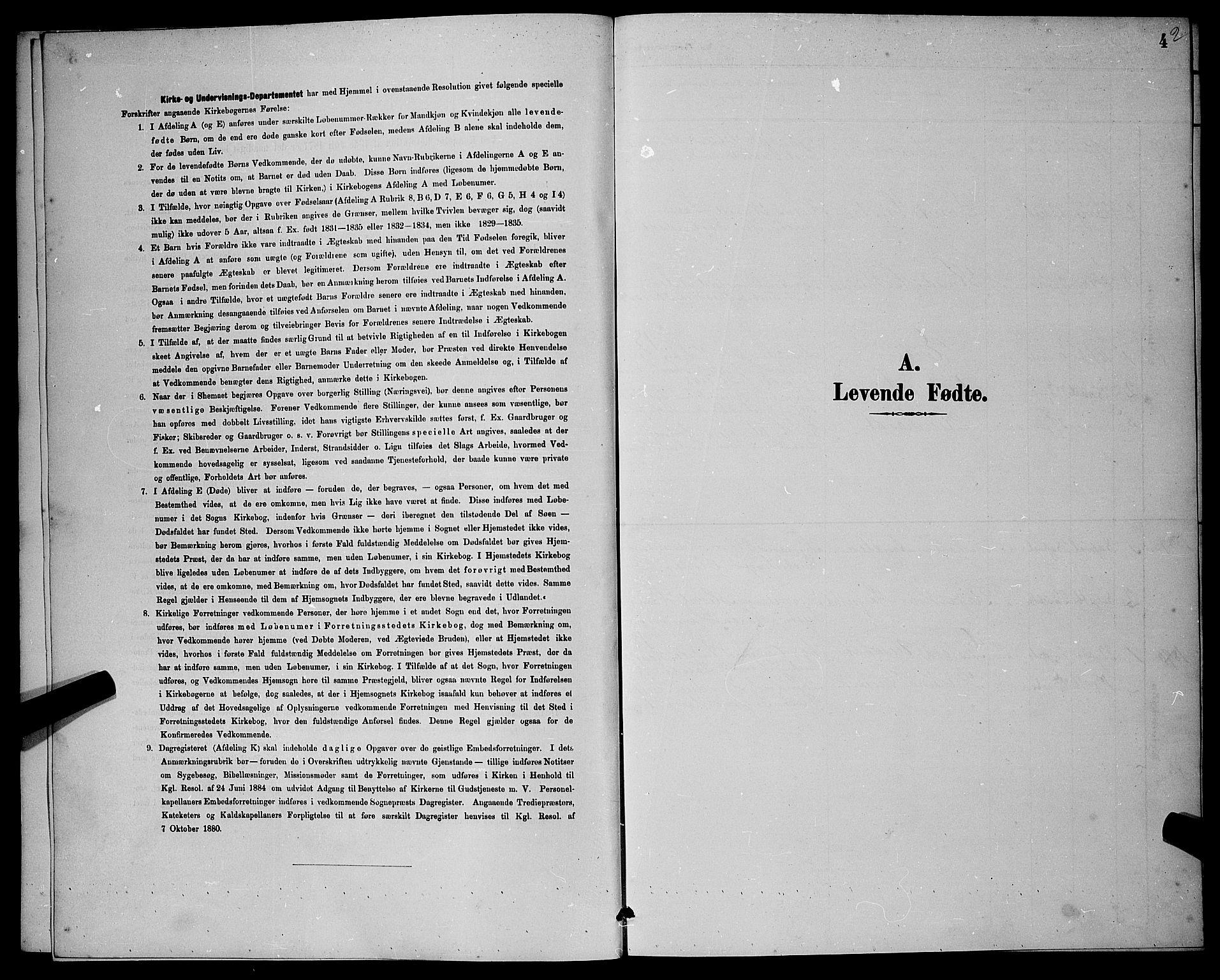 SAST, Rennesøy sokneprestkontor, H/Ha/Hab/L0008: Klokkerbok nr. B 8, 1889-1899, s. 4