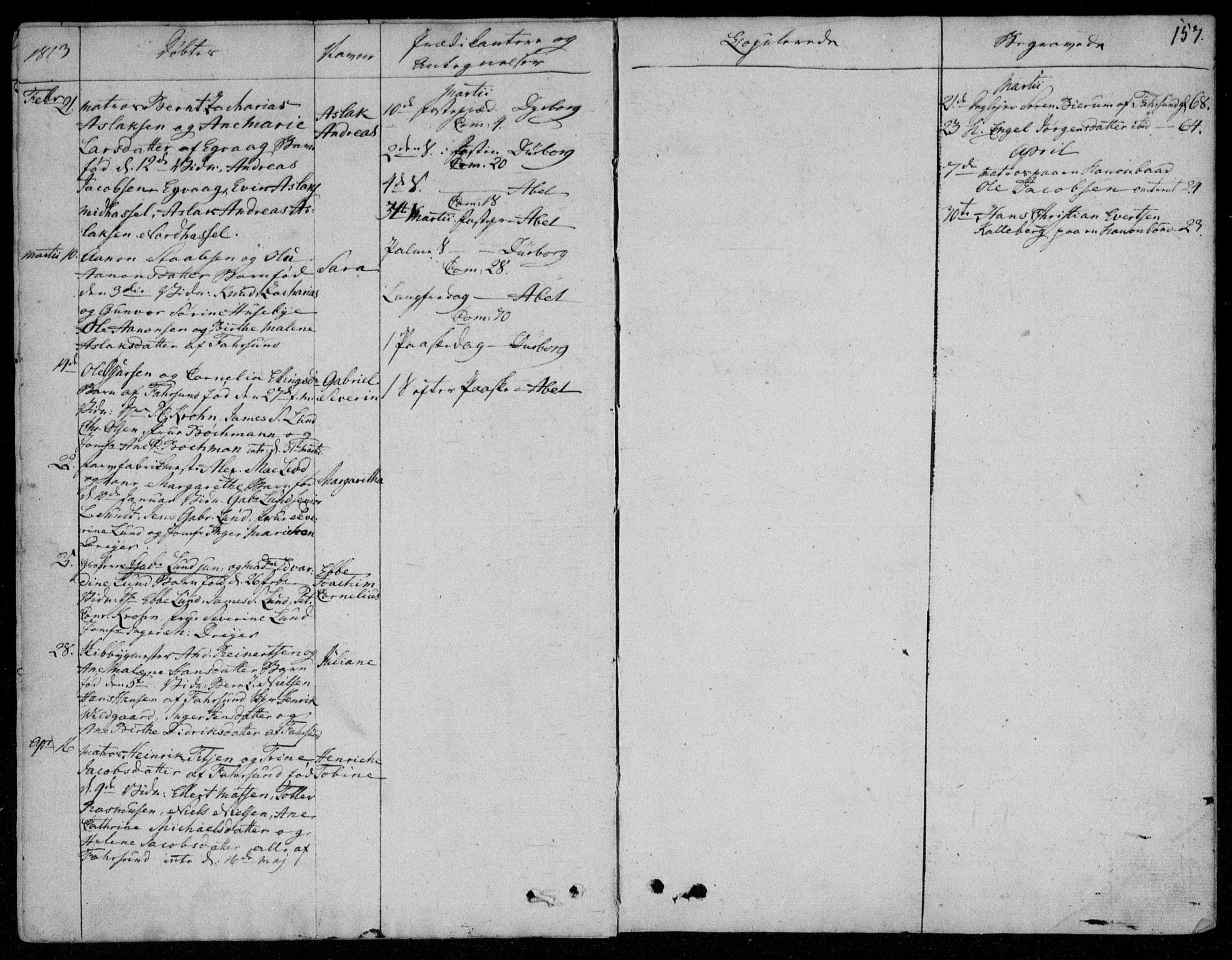 SAK, Farsund sokneprestkontor, F/Fa/L0001: Ministerialbok nr. A 1, 1784-1815, s. 157