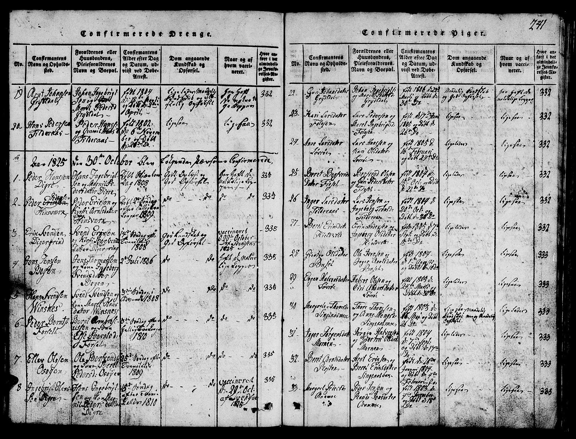SAT, Ministerialprotokoller, klokkerbøker og fødselsregistre - Sør-Trøndelag, 688/L1026: Klokkerbok nr. 688C01, 1817-1860, s. 241