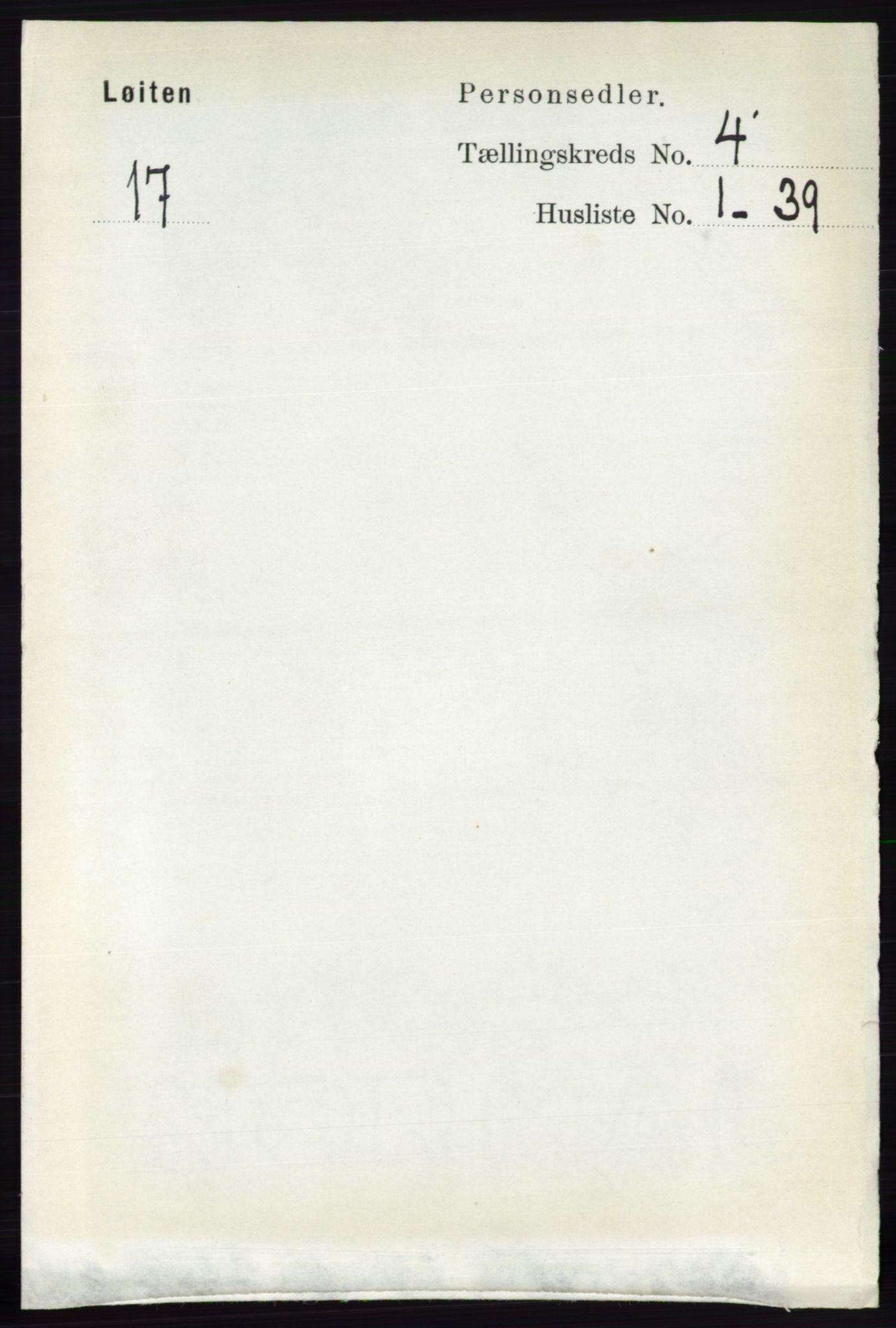 RA, Folketelling 1891 for 0415 Løten herred, 1891, s. 2781