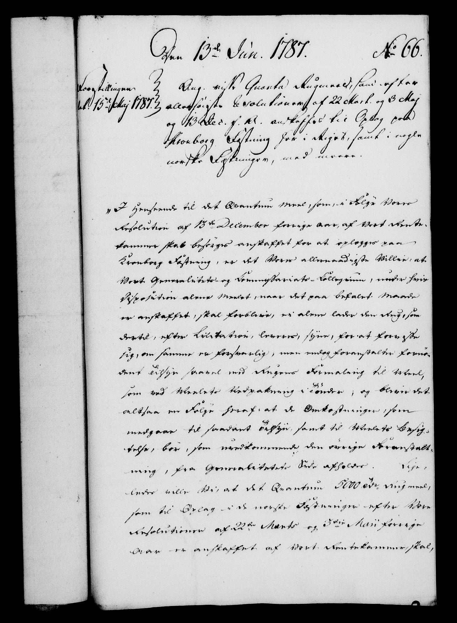 RA, Rentekammeret, Kammerkanselliet, G/Gf/Gfa/L0069: Norsk relasjons- og resolusjonsprotokoll (merket RK 52.69), 1787, s. 666