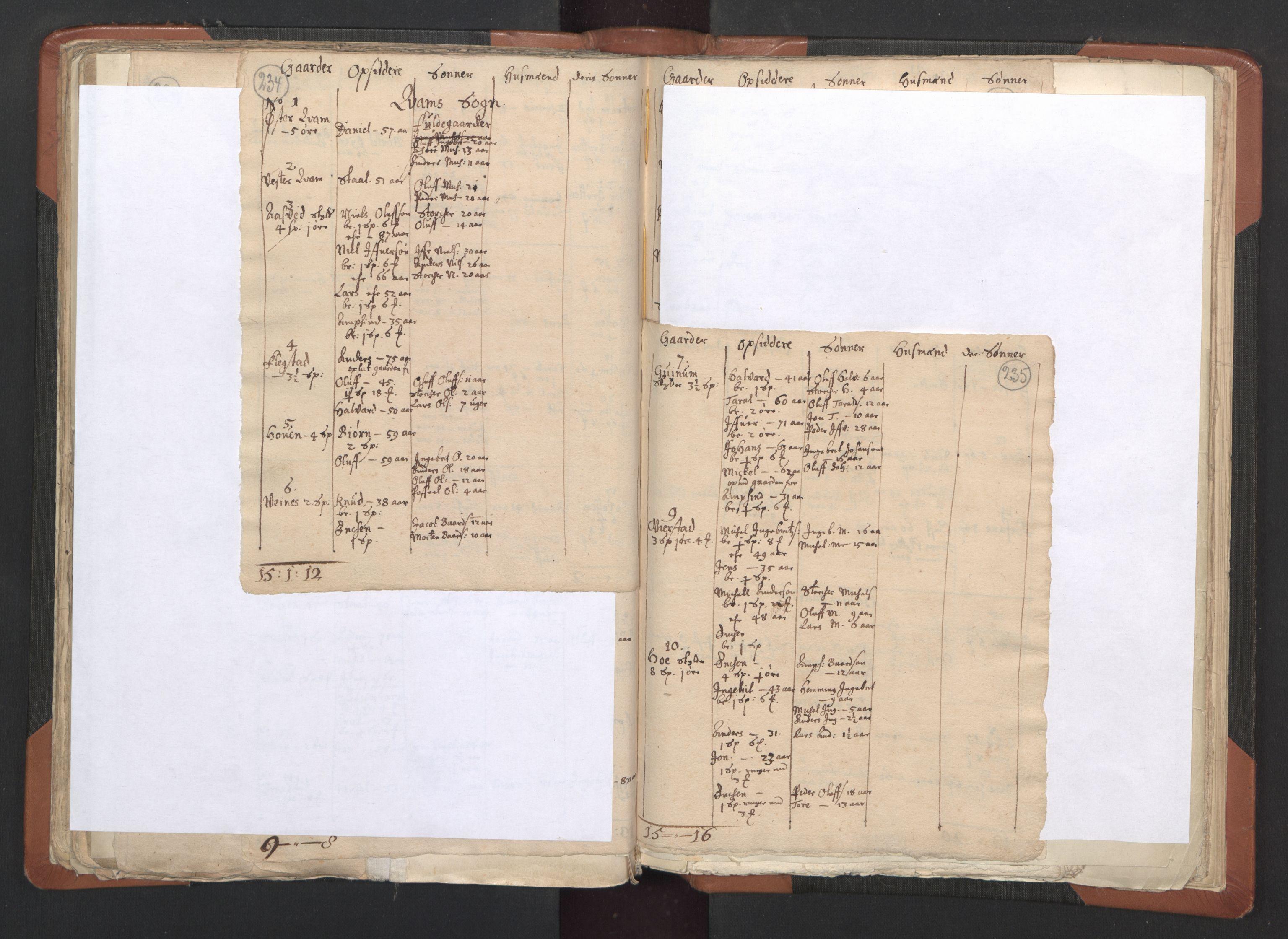 RA, Sogneprestenes manntall 1664-1666, nr. 33: Innherad prosti, 1664-1666, s. 234-235