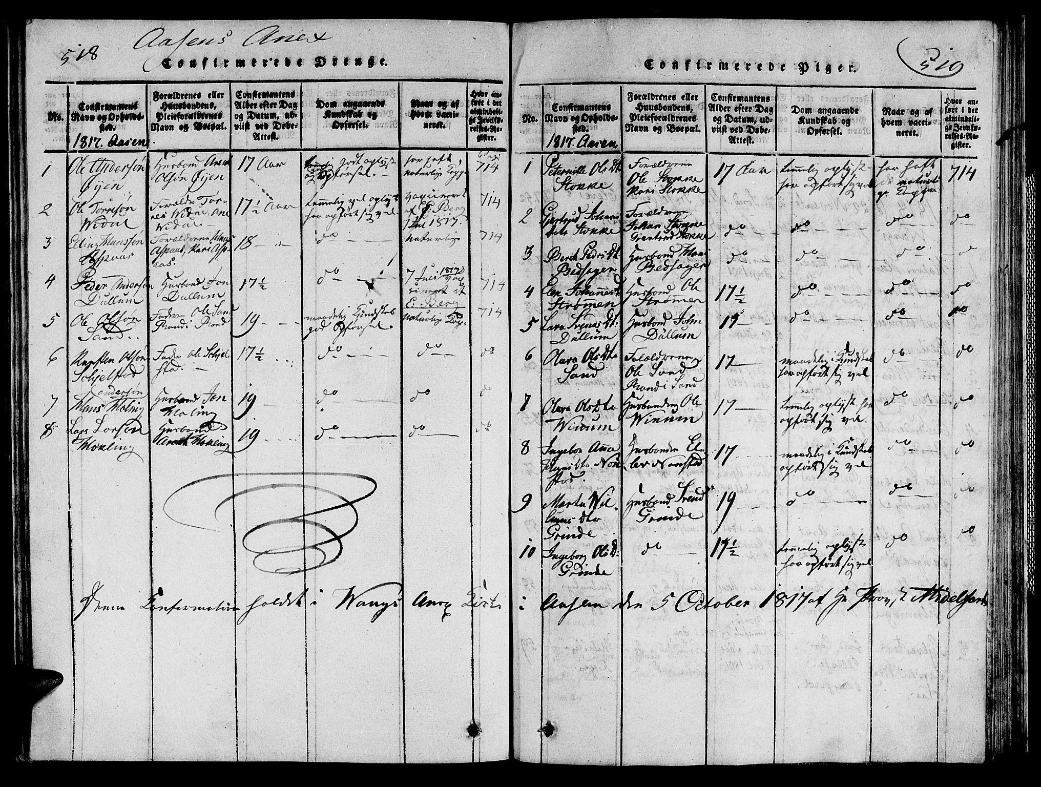 SAT, Ministerialprotokoller, klokkerbøker og fødselsregistre - Nord-Trøndelag, 713/L0112: Ministerialbok nr. 713A04 /2, 1817-1827, s. 518-519