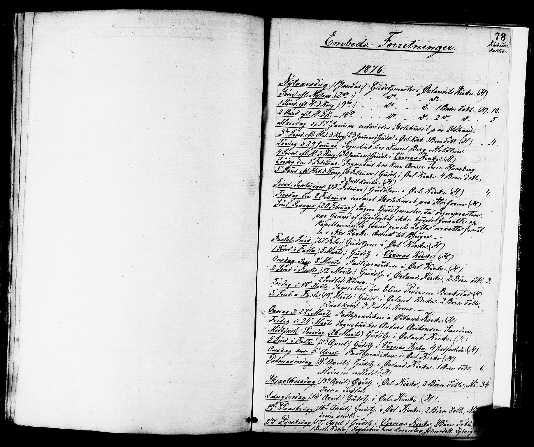 SAT, Ministerialprotokoller, klokkerbøker og fødselsregistre - Sør-Trøndelag, 659/L0738: Ministerialbok nr. 659A08, 1876-1878, s. 78