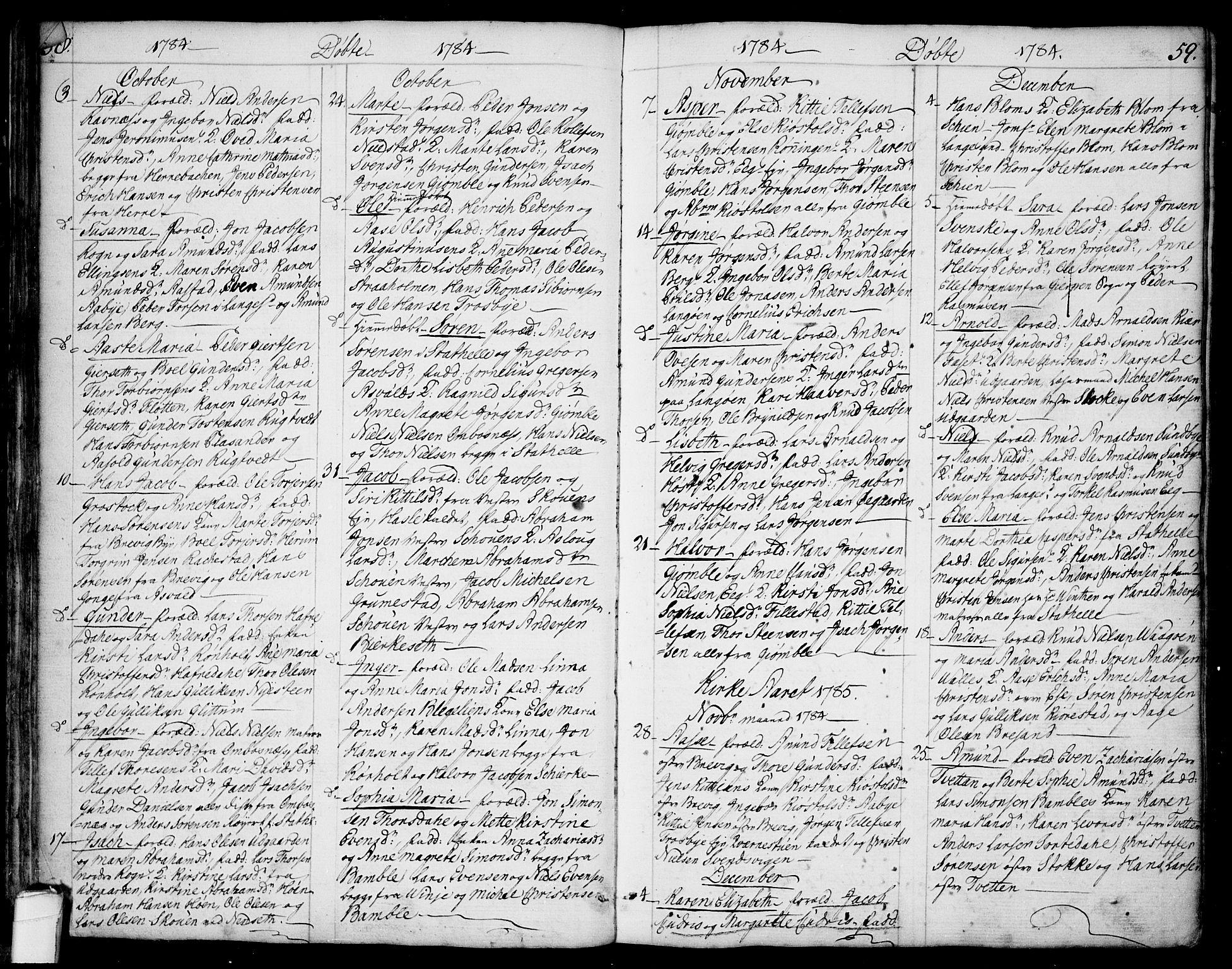 SAKO, Bamble kirkebøker, F/Fa/L0002: Ministerialbok nr. I 2, 1775-1814, s. 58-59