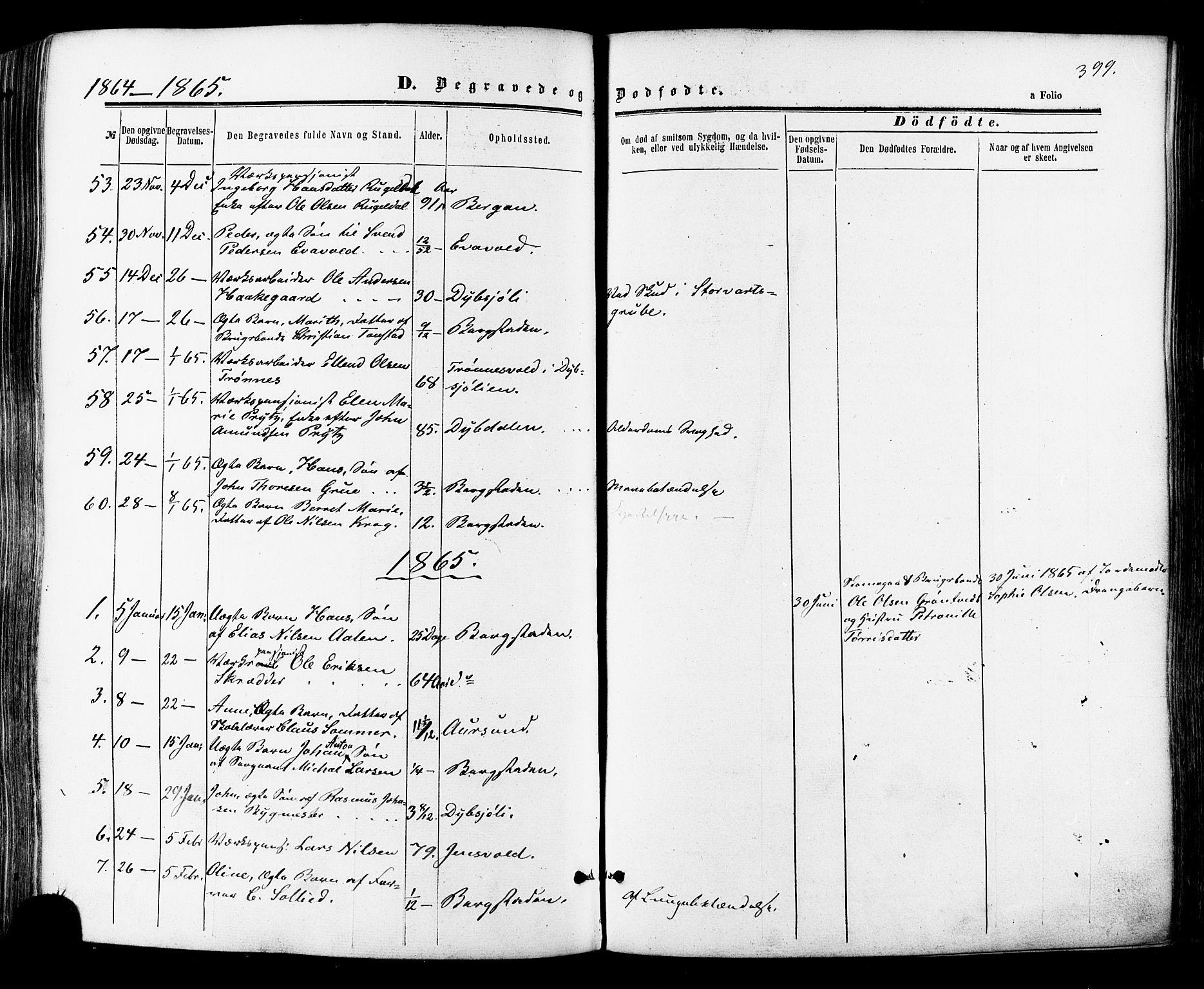 SAT, Ministerialprotokoller, klokkerbøker og fødselsregistre - Sør-Trøndelag, 681/L0932: Ministerialbok nr. 681A10, 1860-1878, s. 399