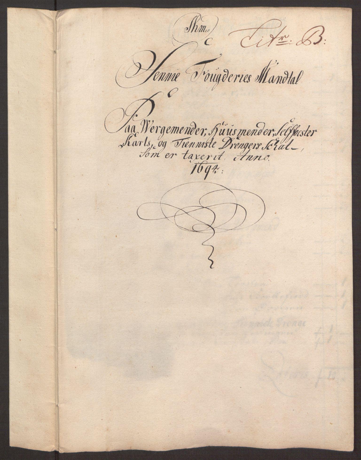 RA, Rentekammeret inntil 1814, Reviderte regnskaper, Fogderegnskap, R68/L4753: Fogderegnskap Senja og Troms, 1694-1696, s. 37