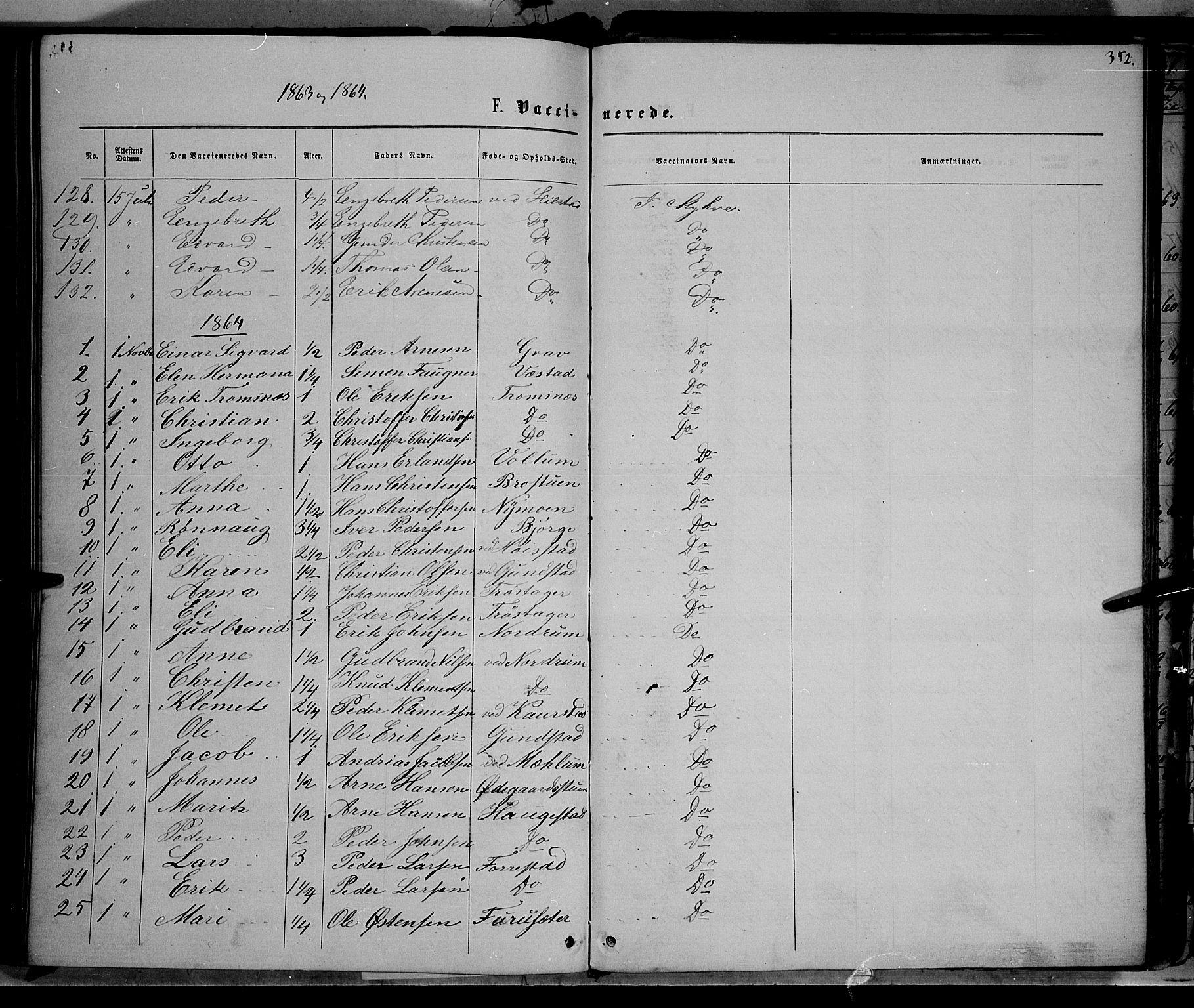 SAH, Ringebu prestekontor, Ministerialbok nr. 7, 1860-1877, s. 352