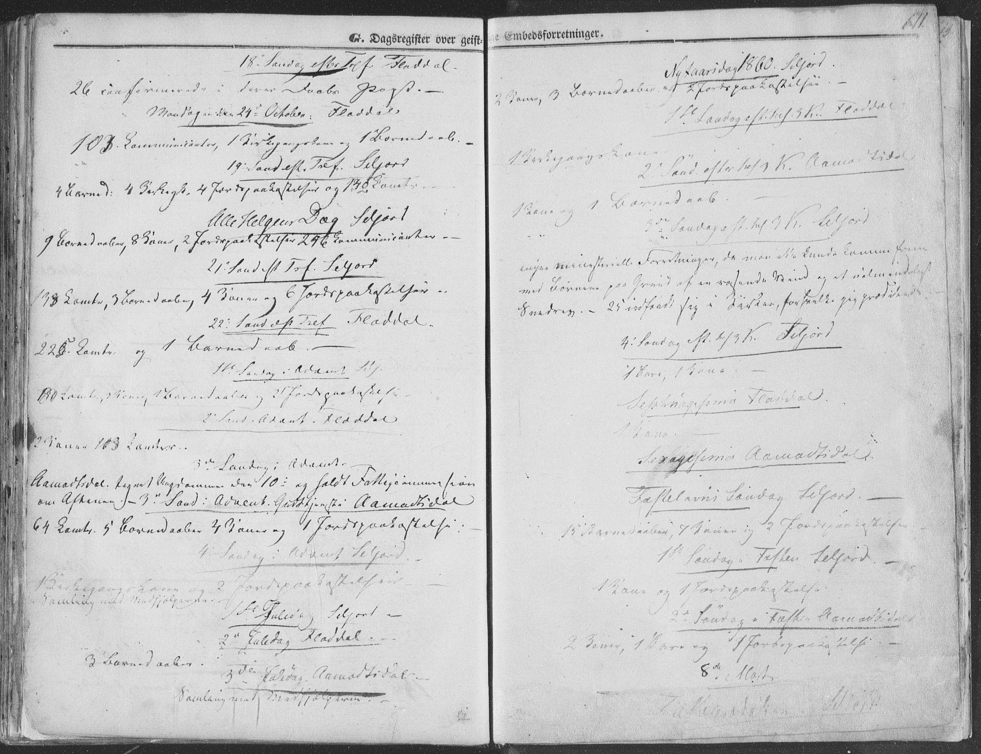 SAKO, Seljord kirkebøker, F/Fa/L012b: Ministerialbok nr. I 12B, 1850-1865, s. 611