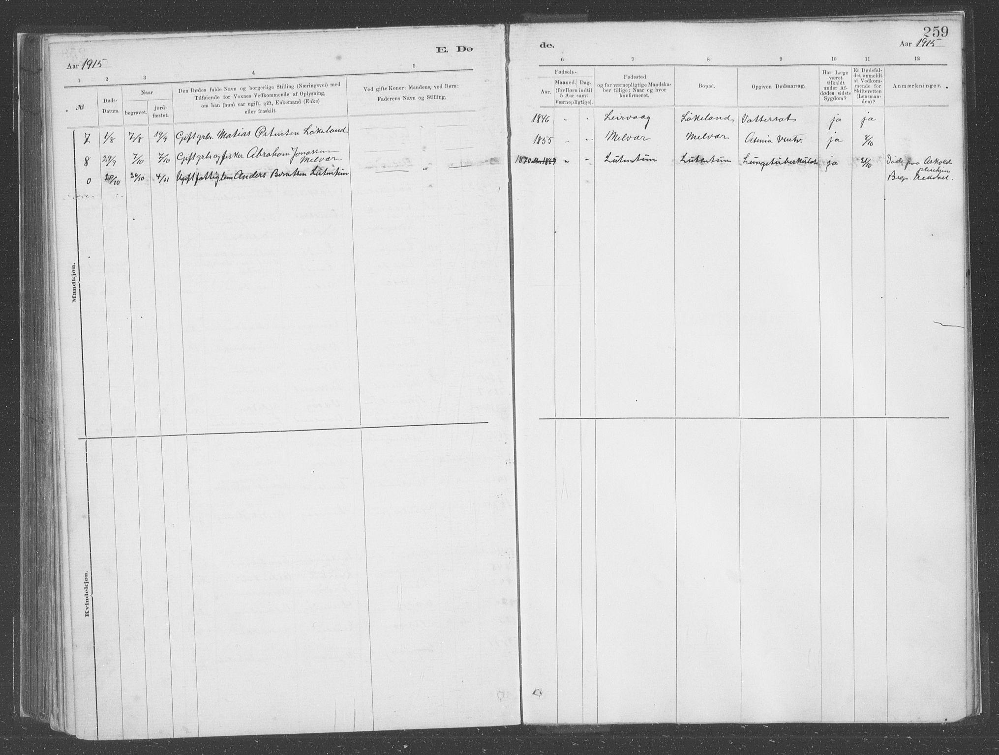 SAB, Askvoll Sokneprestembete, Ministerialbok nr. C  1, 1879-1922, s. 259