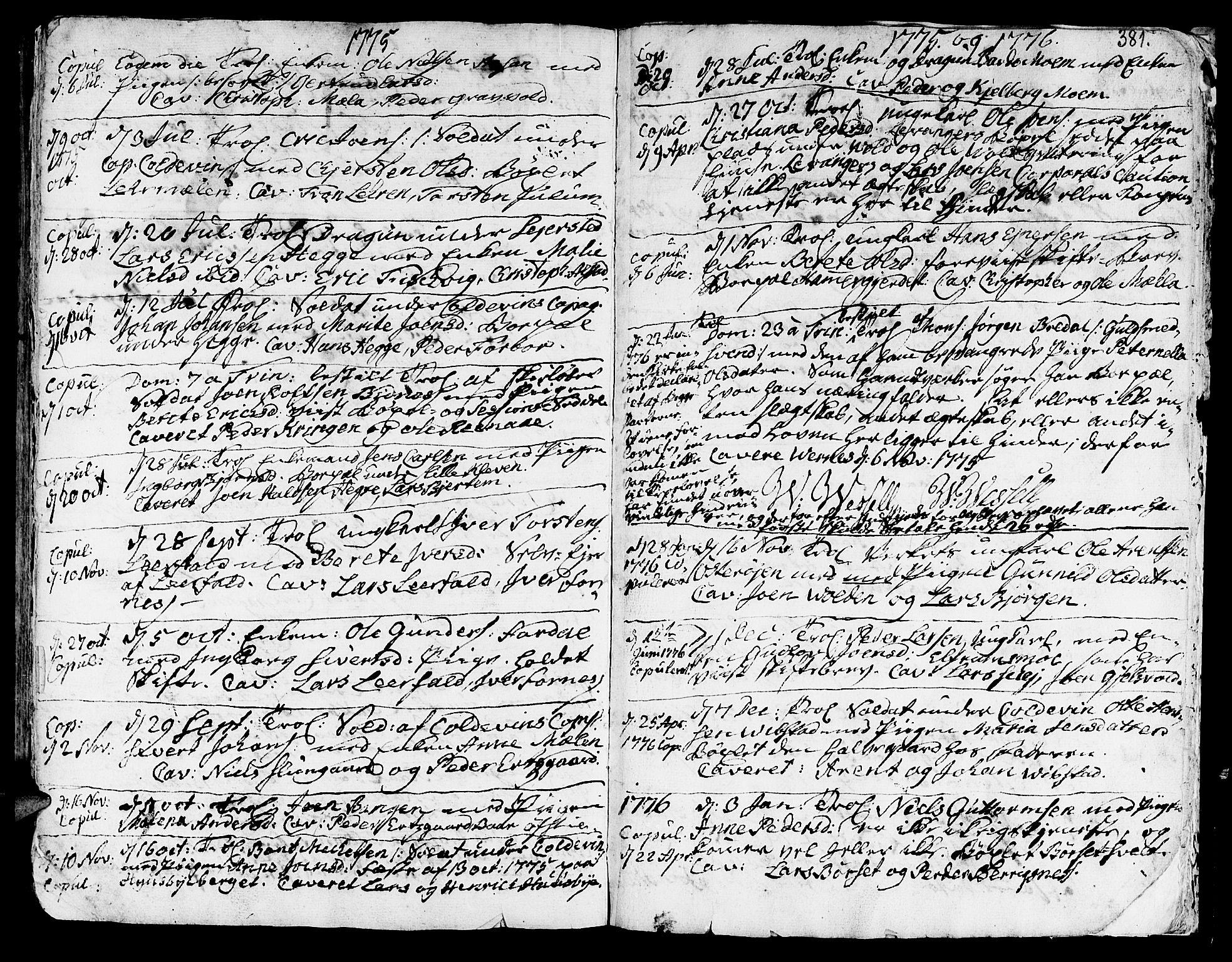 SAT, Ministerialprotokoller, klokkerbøker og fødselsregistre - Nord-Trøndelag, 709/L0057: Ministerialbok nr. 709A05, 1755-1780, s. 381