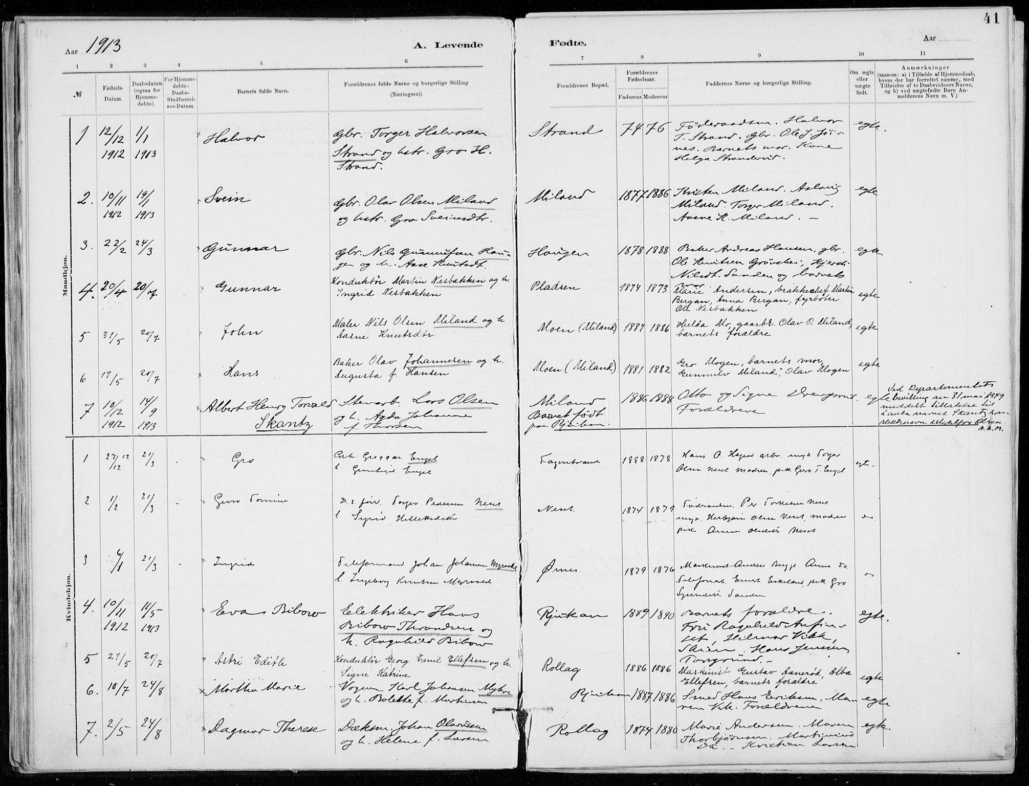 SAKO, Tinn kirkebøker, F/Fb/L0002: Ministerialbok nr. II 2, 1878-1917, s. 41