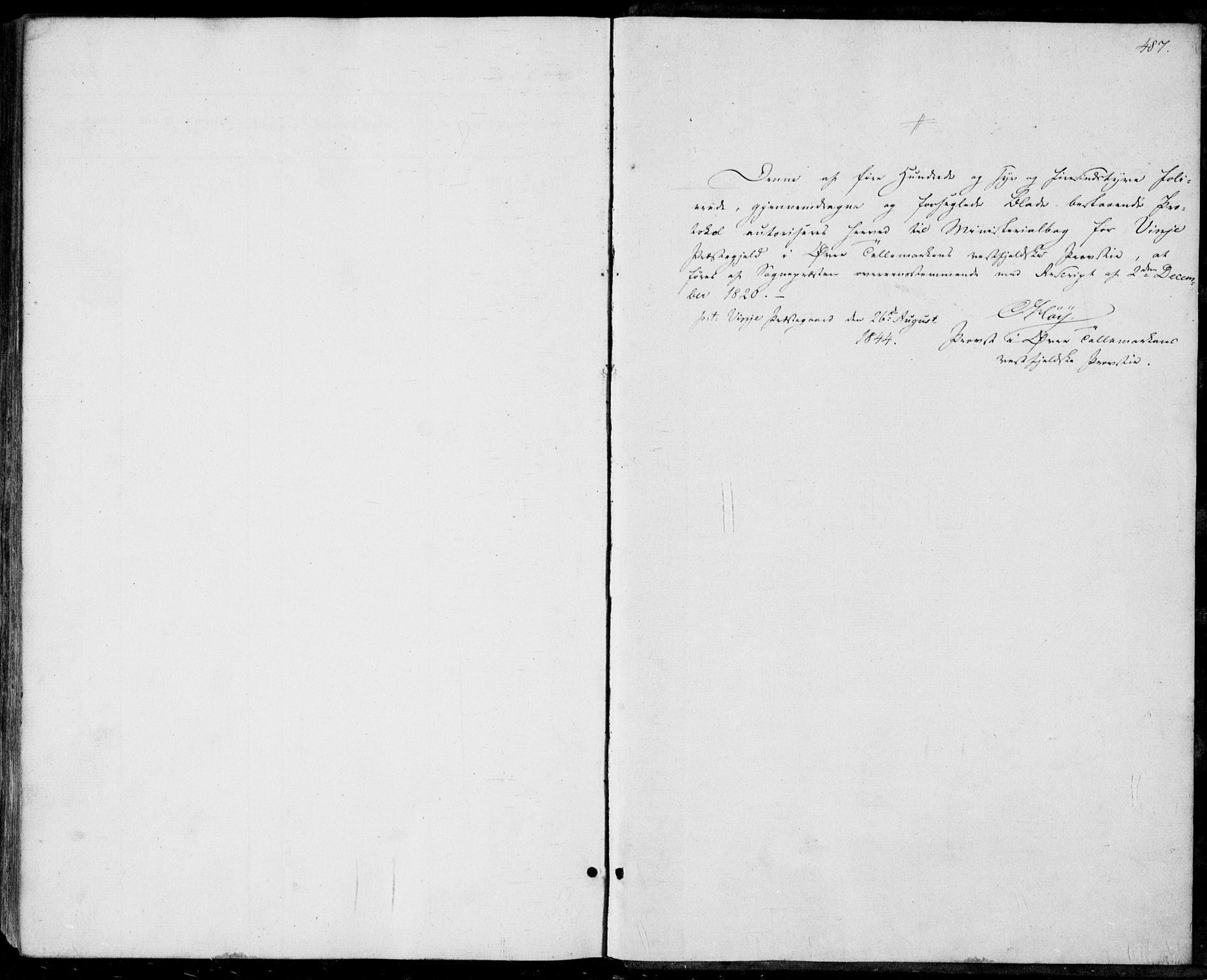 SAKO, Vinje kirkebøker, F/Fa/L0004: Ministerialbok nr. I 4, 1843-1869, s. 487