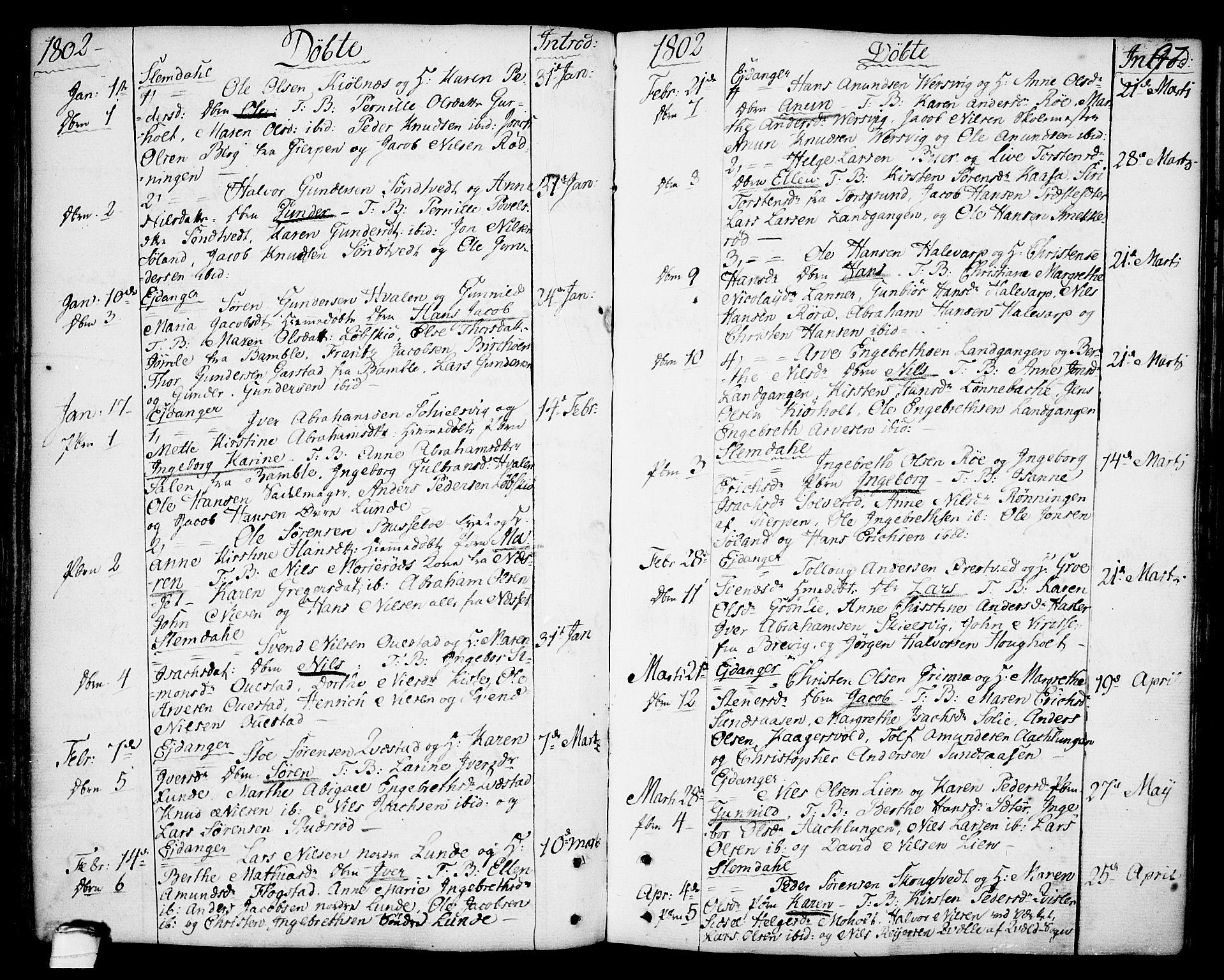 SAKO, Eidanger kirkebøker, F/Fa/L0006: Ministerialbok nr. 6, 1764-1814, s. 97