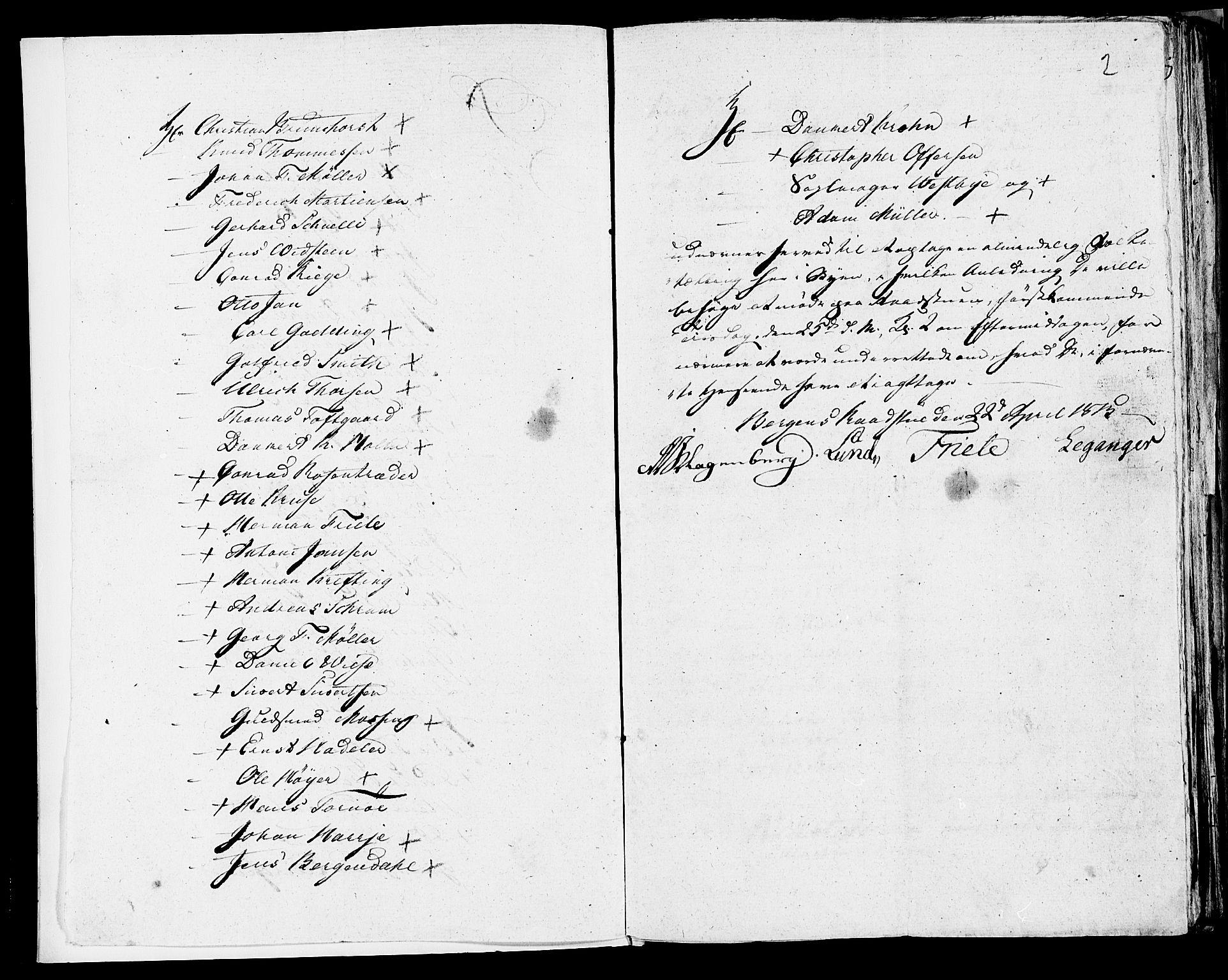 SAB, Folketelling 1815 for 1301 Bergen kjøpstad, 1815, s. 2
