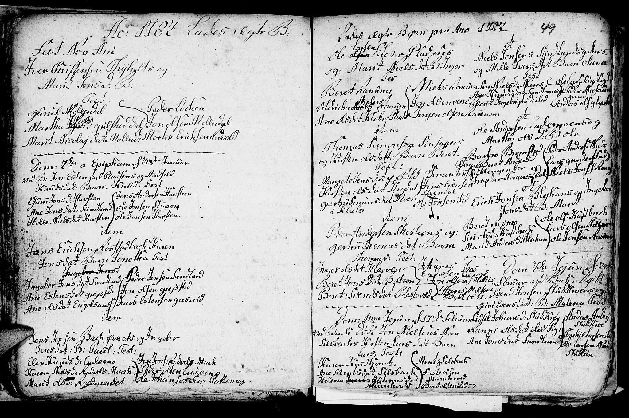 SAT, Ministerialprotokoller, klokkerbøker og fødselsregistre - Sør-Trøndelag, 606/L0305: Klokkerbok nr. 606C01, 1757-1819, s. 49