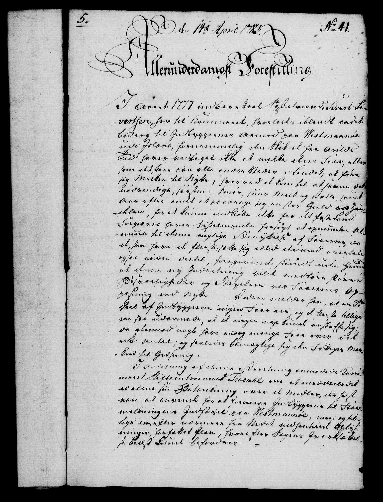 RA, Rentekammeret, Kammerkanselliet, G/Gf/Gfa/L0065: Norsk relasjons- og resolusjonsprotokoll (merket RK 52.65), 1783, s. 284