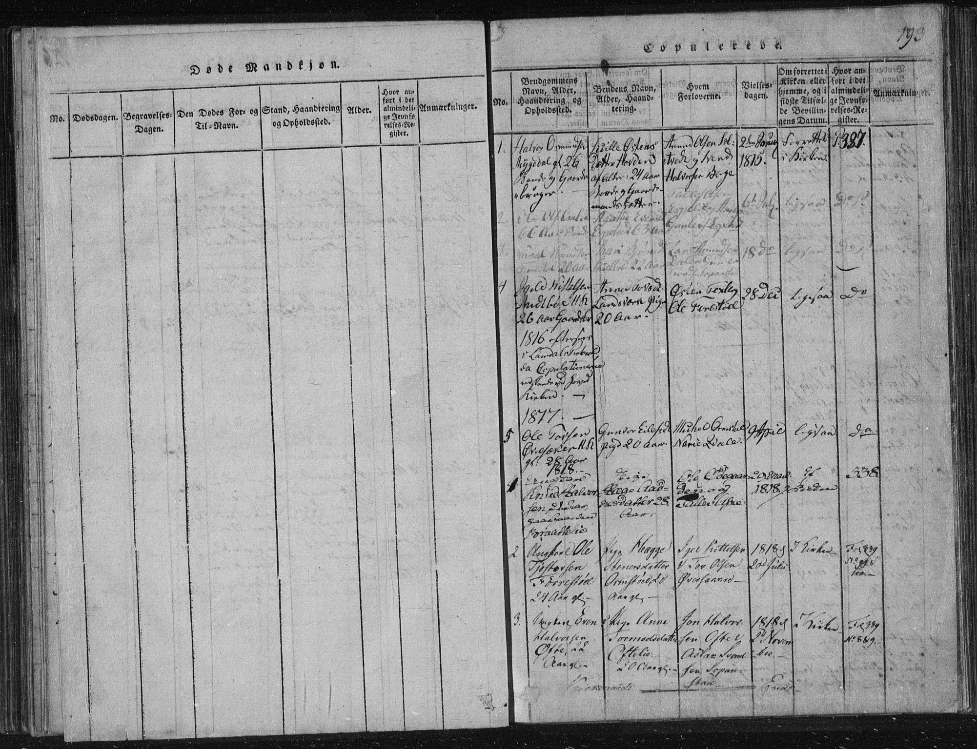 SAKO, Lårdal kirkebøker, F/Fc/L0001: Ministerialbok nr. III 1, 1815-1860, s. 193