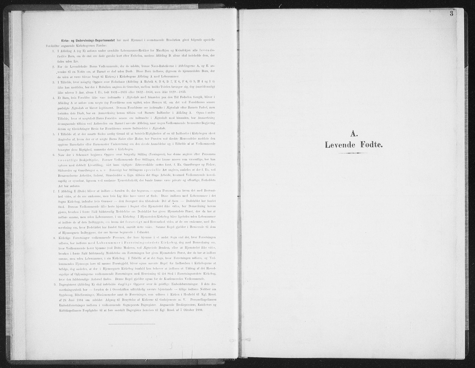 SAT, Ministerialprotokoller, klokkerbøker og fødselsregistre - Nordland, 897/L1400: Ministerialbok nr. 897A07, 1897-1908, s. 3