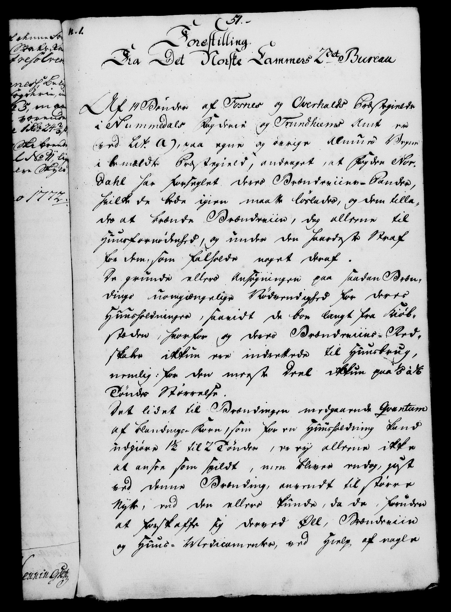 RA, Rentekammeret, Kammerkanselliet, G/Gf/Gfa/L0054: Norsk relasjons- og resolusjonsprotokoll (merket RK 52.54), 1771-1772, s. 435