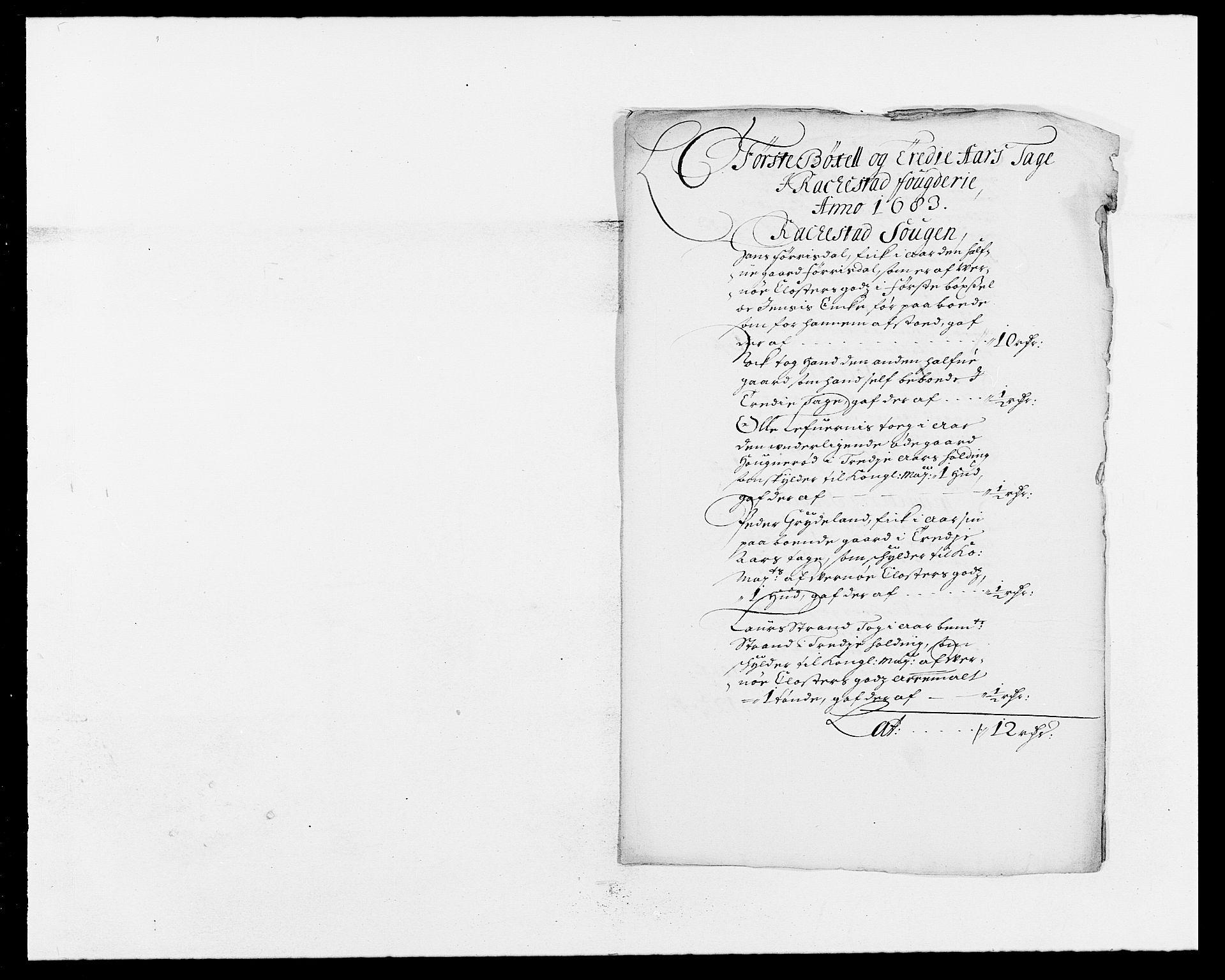 RA, Rentekammeret inntil 1814, Reviderte regnskaper, Fogderegnskap, R05/L0274: Fogderegnskap Rakkestad, 1683-1684, s. 43