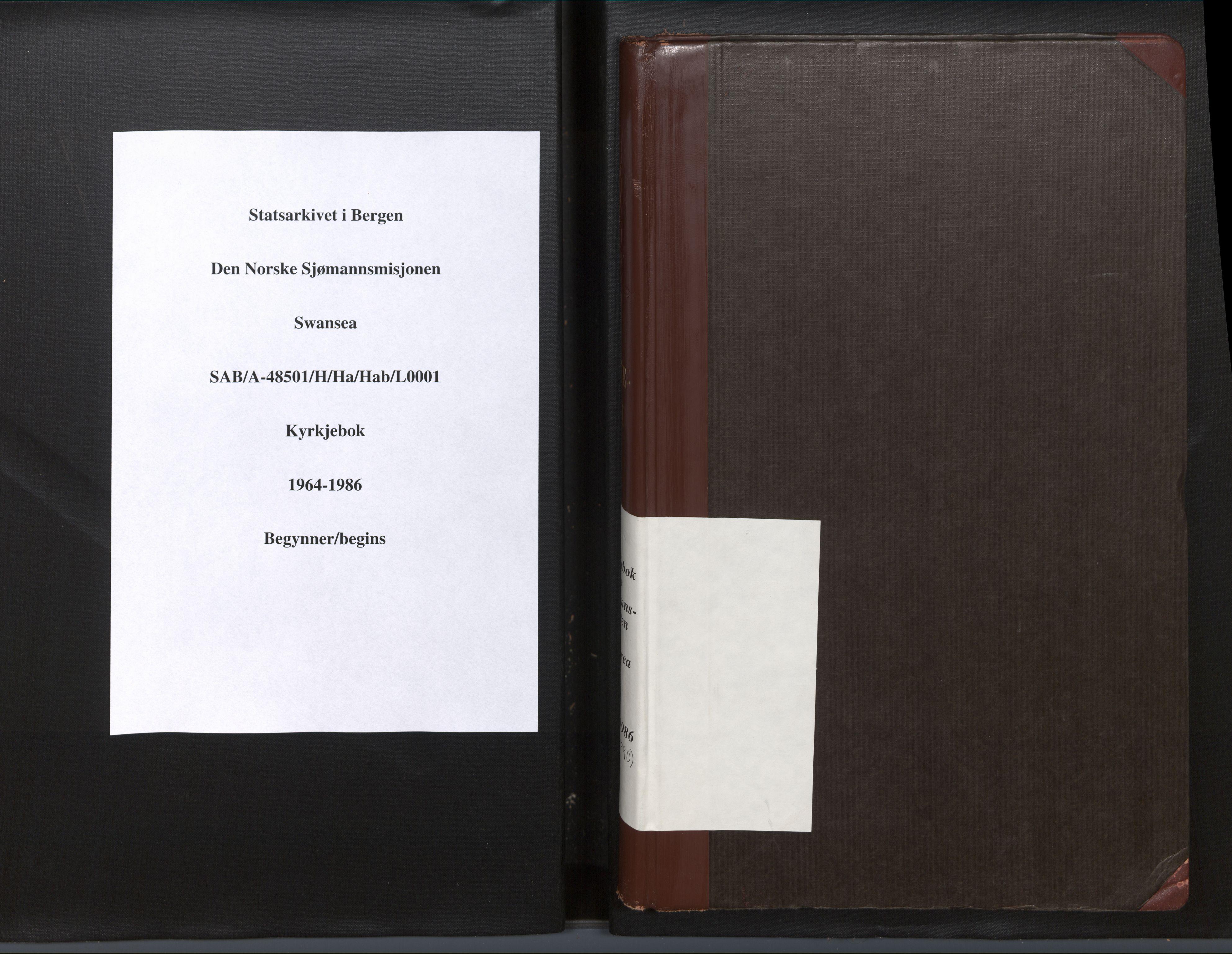SAB, Privatarkiv 102 - Den norske sjømannsmisjon i utlandet/Bristolhavnene(Cardiff-Swansea), H/Ha/Hab: Ministerialbok nr. A 1, 1964-1986