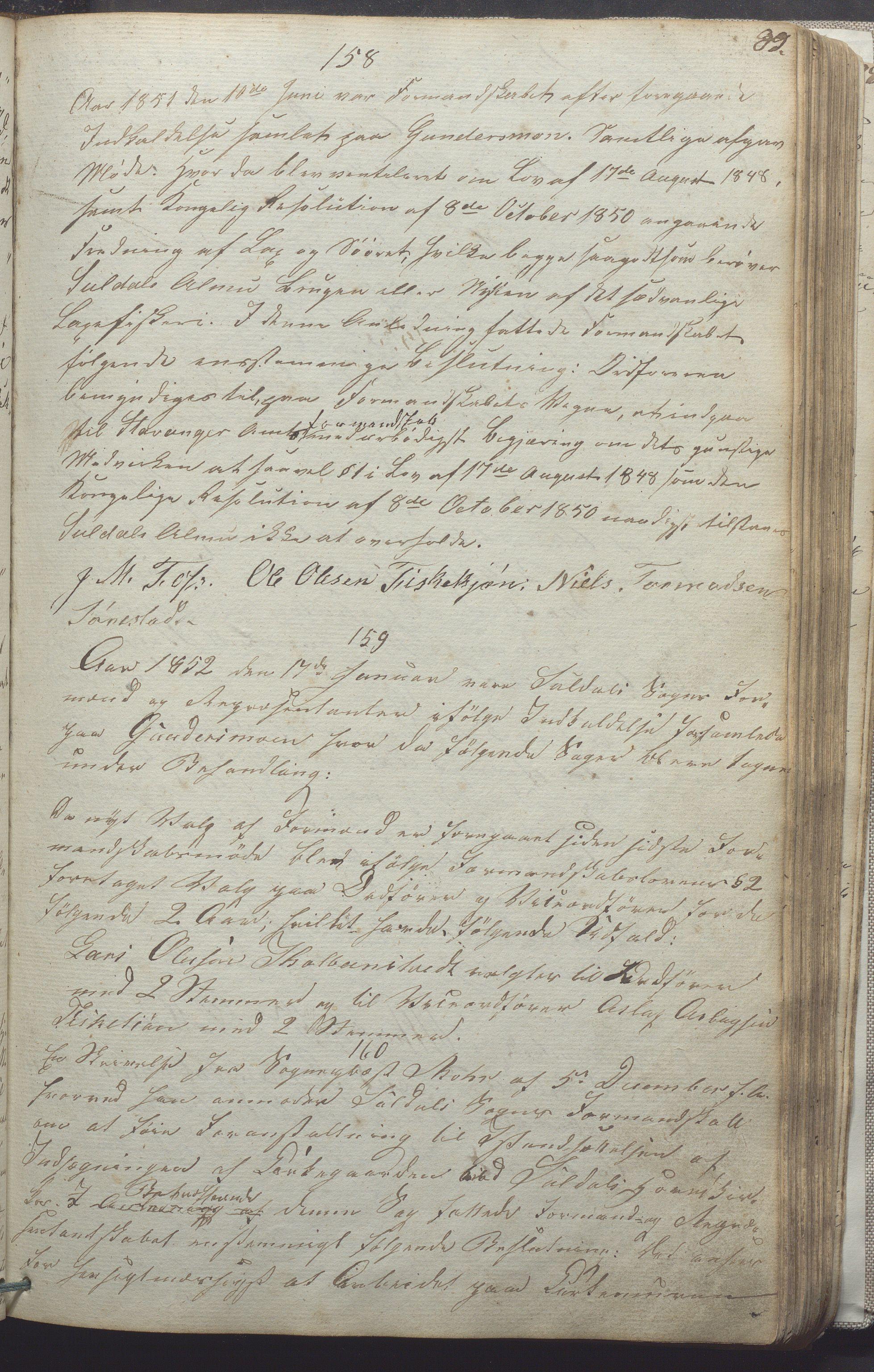 IKAR, Suldal kommune - Formannskapet/Rådmannen, A/Aa/L0001: Møtebok, 1837-1876, s. 89a